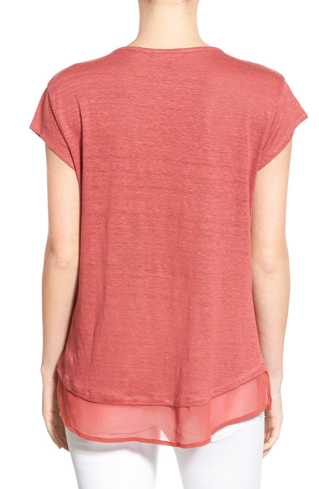 City Mix Layered Look Tee,                             Alternate thumbnail 42, color,