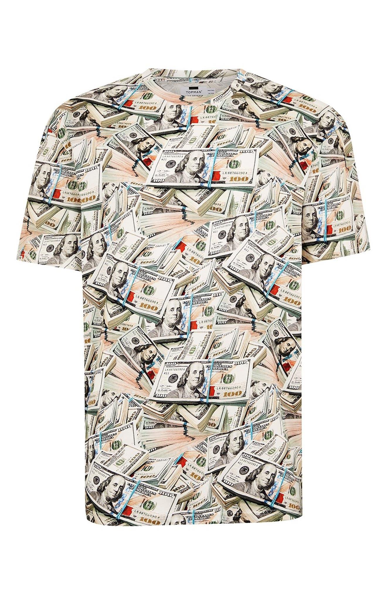 Money Print T-Shirt,                             Alternate thumbnail 3, color,                             300