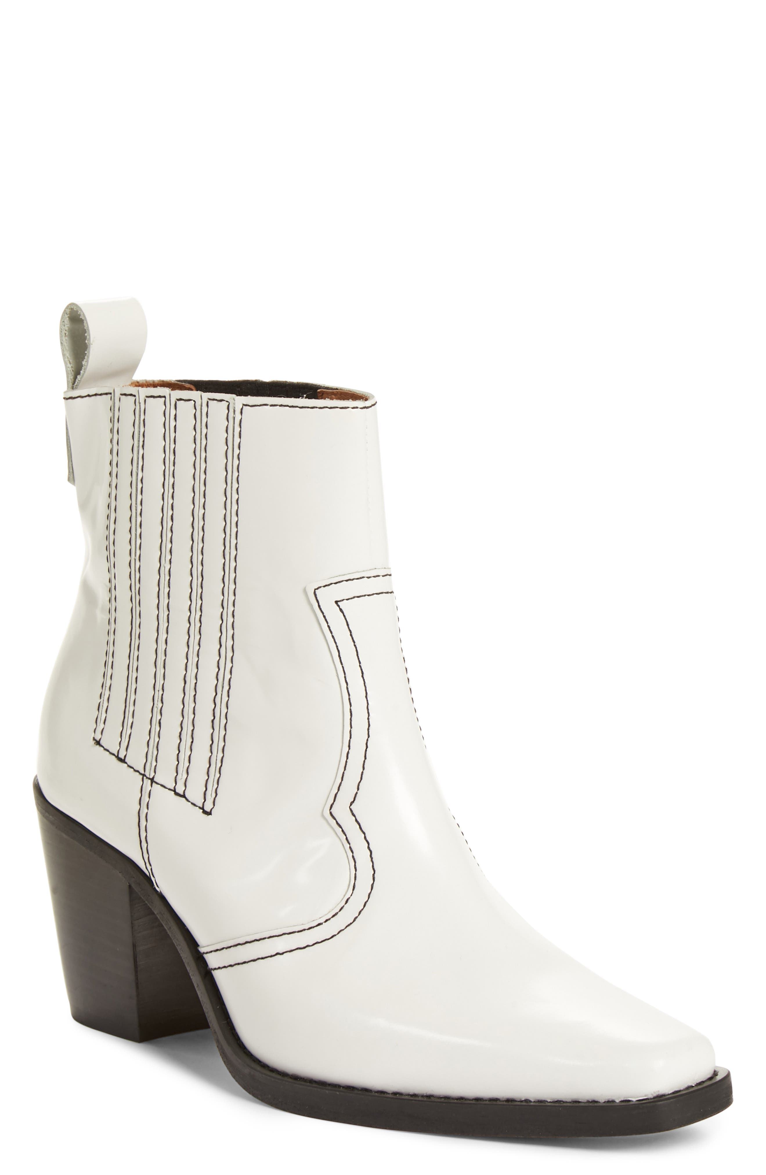 Western Bootie,                         Main,                         color, BRIGHT WHITE 151