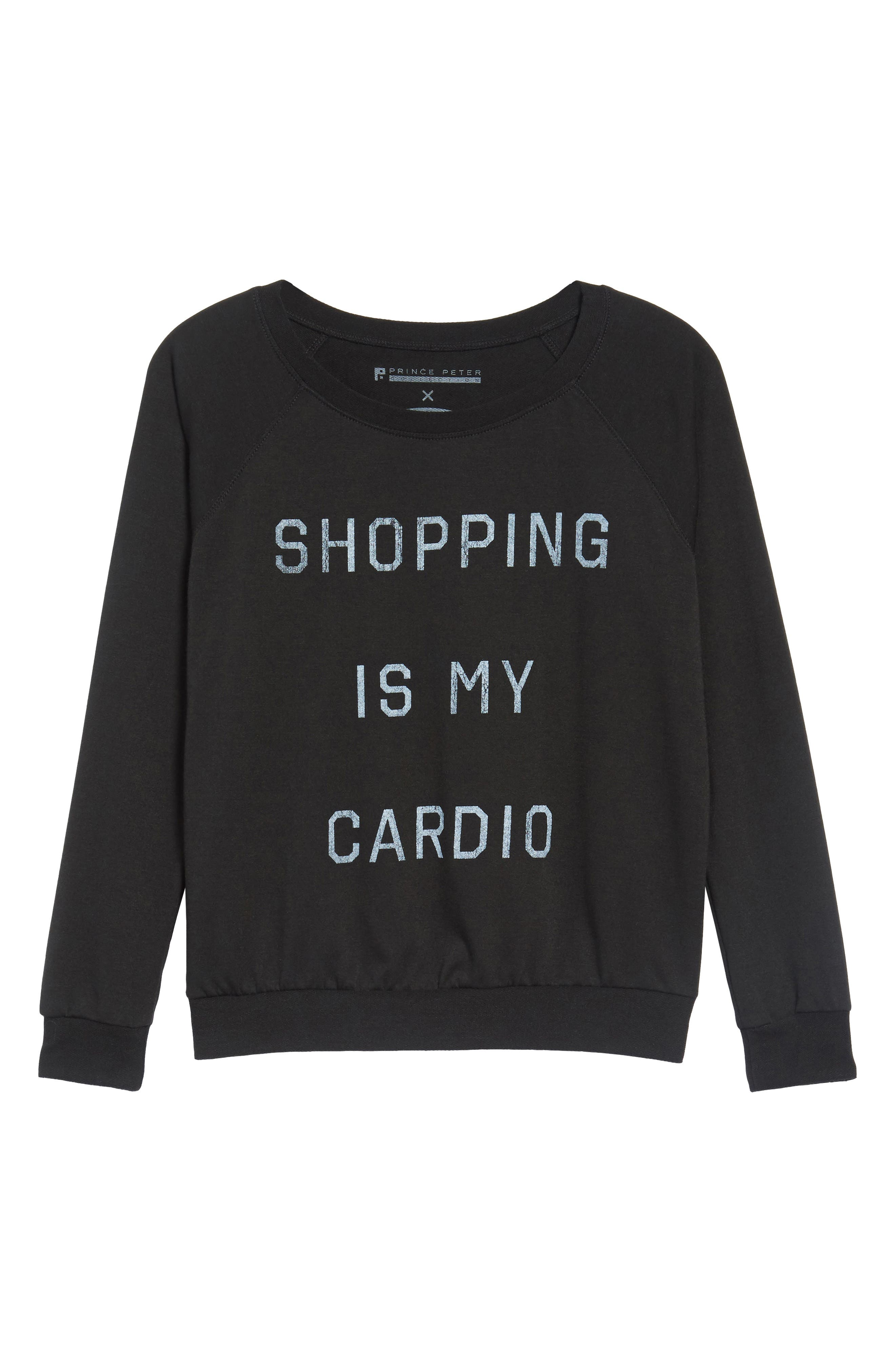 Shopping is My Cardio Tee,                             Alternate thumbnail 6, color,                             001