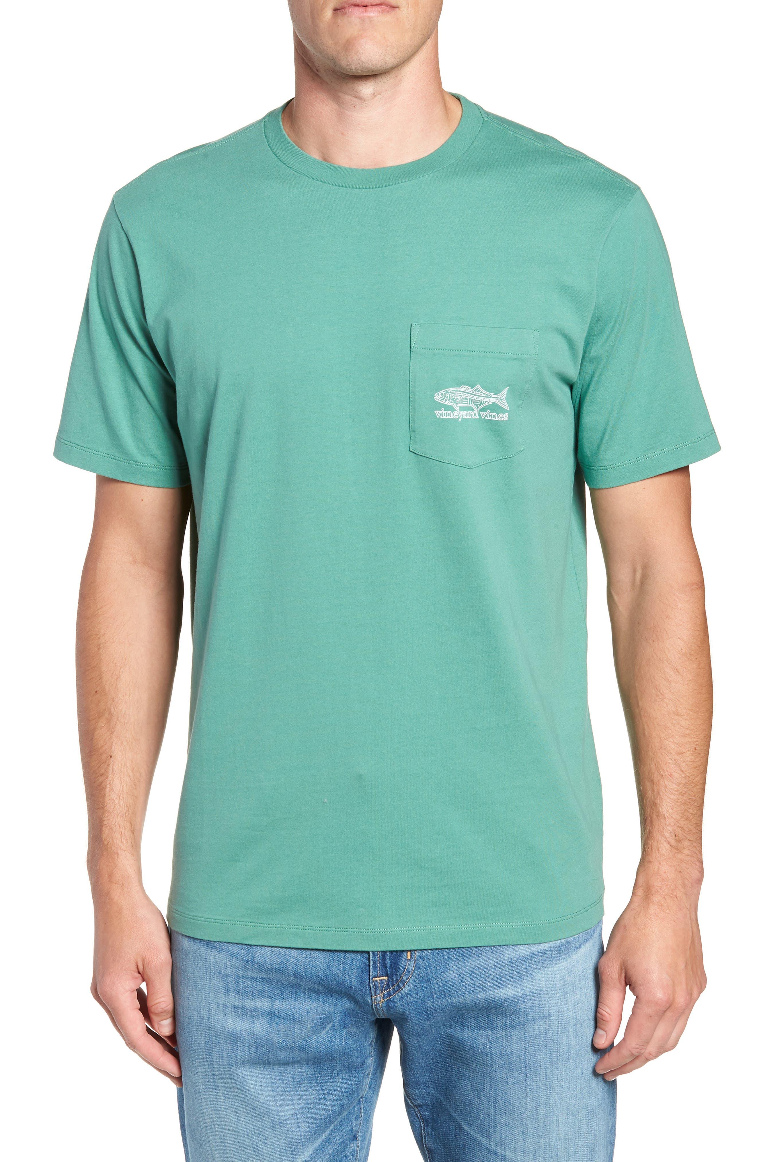 Linear Bluefish Pocket T-Shirt,                             Main thumbnail 1, color,                             324