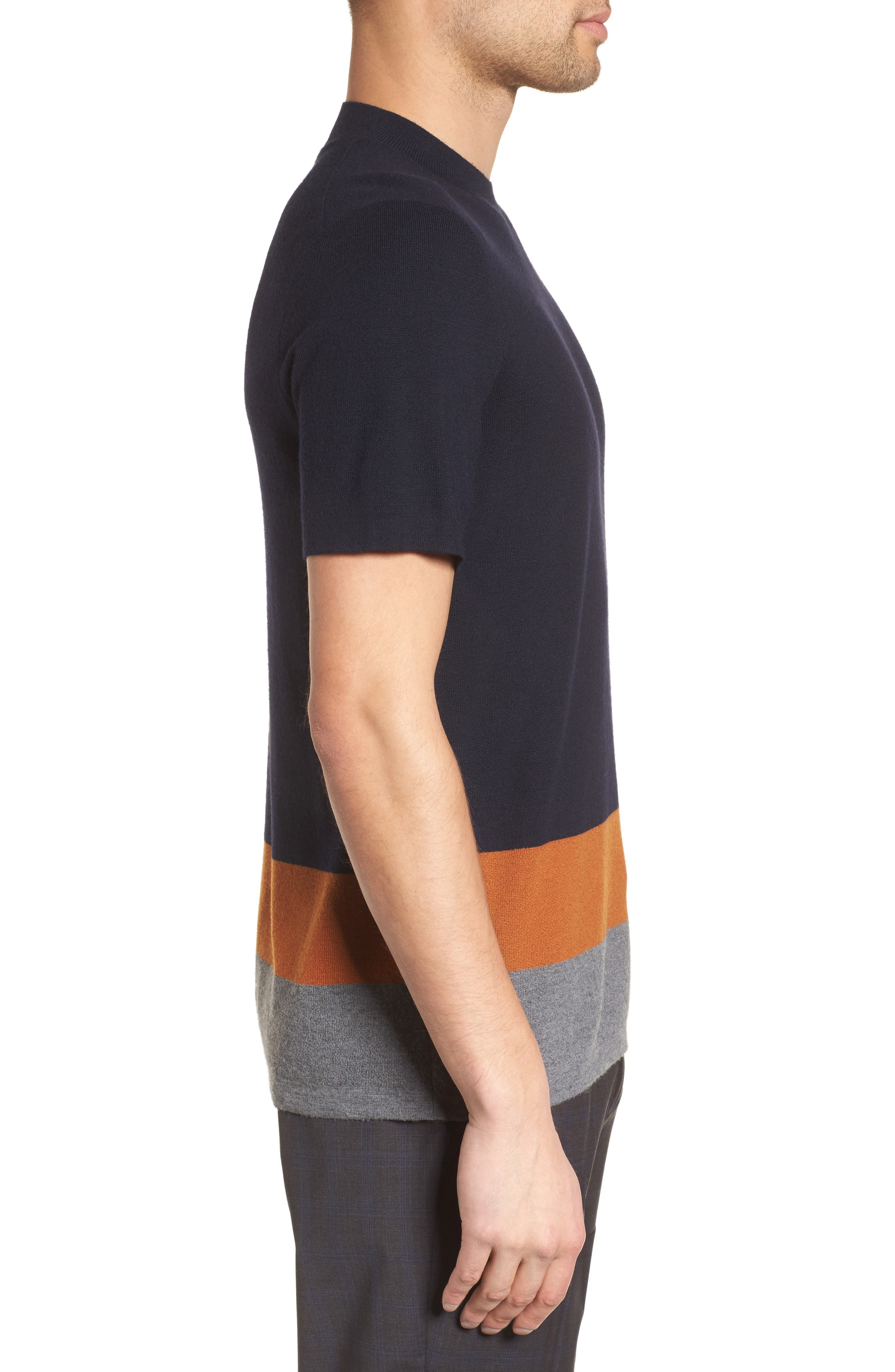 Cyar CB New Sovereign Colorblocked Wool Sweater,                             Alternate thumbnail 3, color,