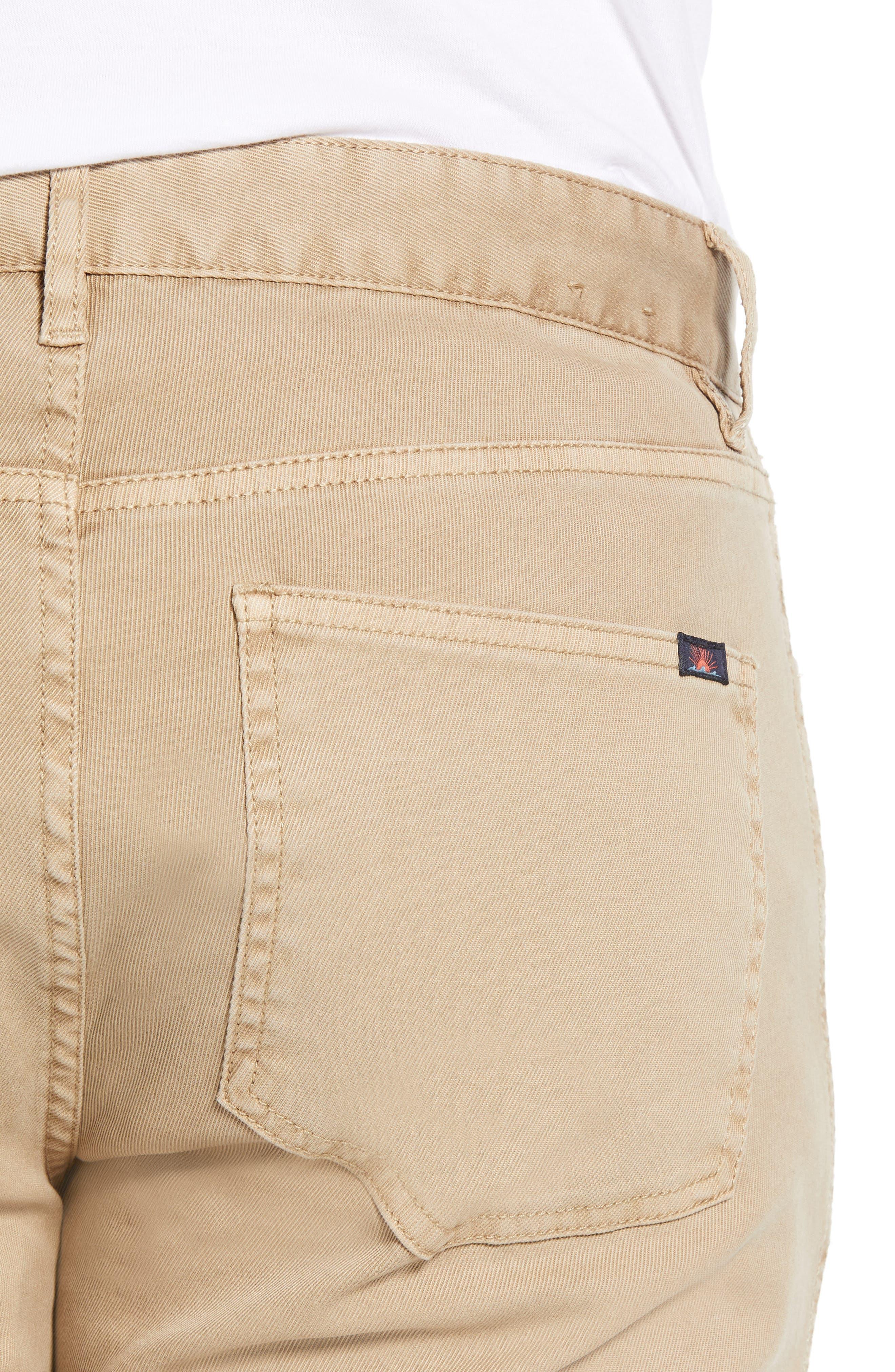Comfort Twill Five-Pocket Pants,                             Alternate thumbnail 4, color,                             KHAKI