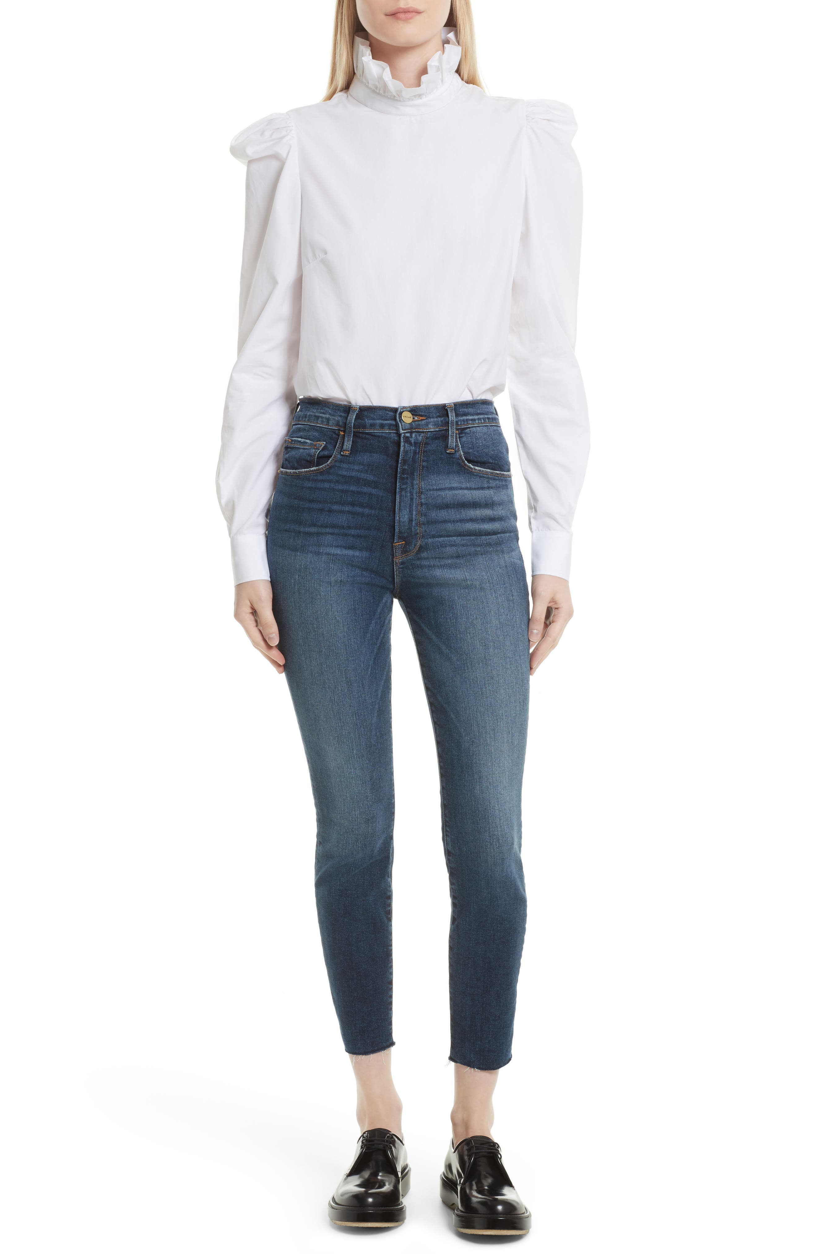 Le High Ankle Skinny Jeans,                             Alternate thumbnail 6, color,