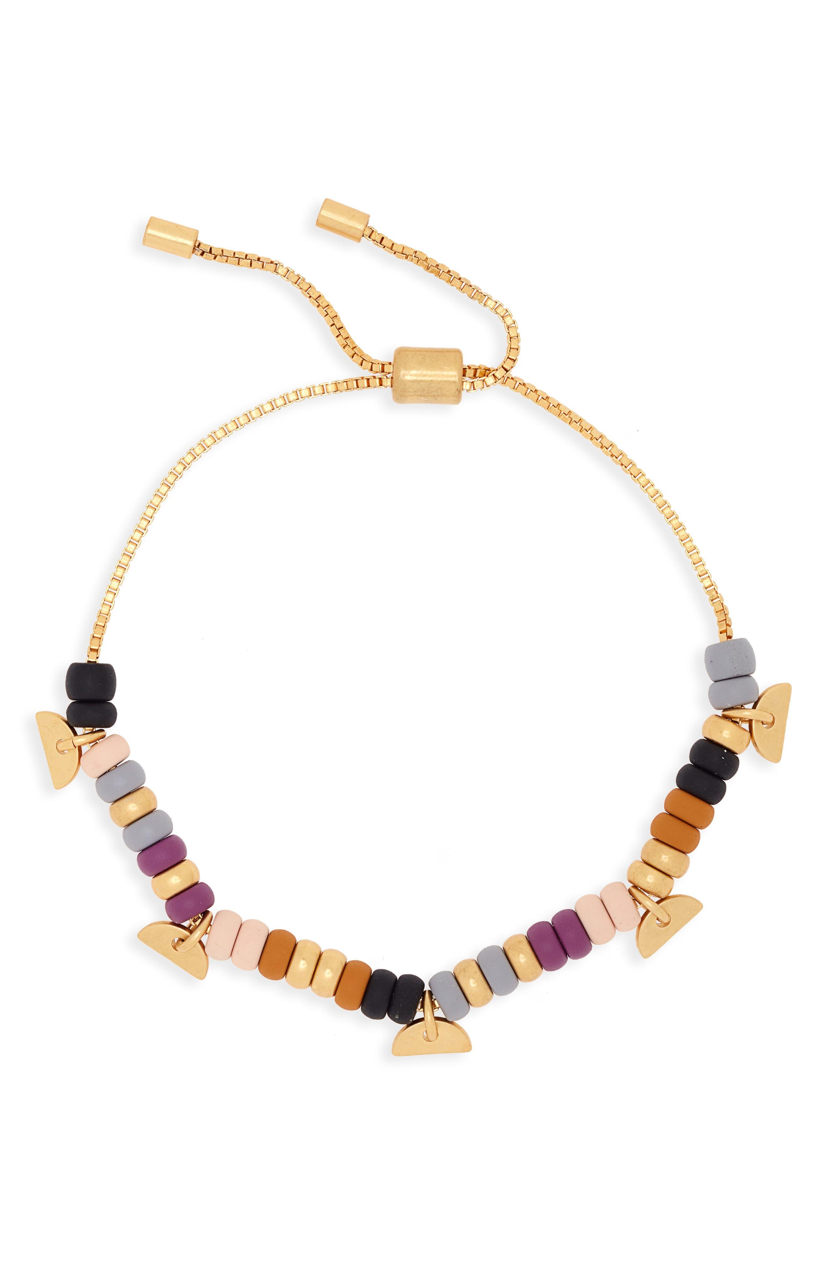 Beaded Chain Bracelet,                         Main,                         color,