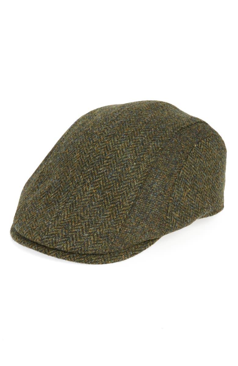 Barbour Herringbone Tweed Wool Driving Cap  138c3ef02a1