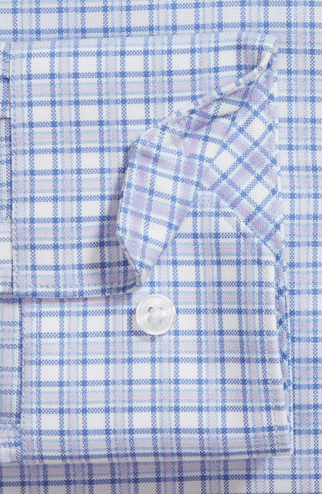 Nas Trim Fit Plaid Dress Shirt,                             Alternate thumbnail 6, color,                             430