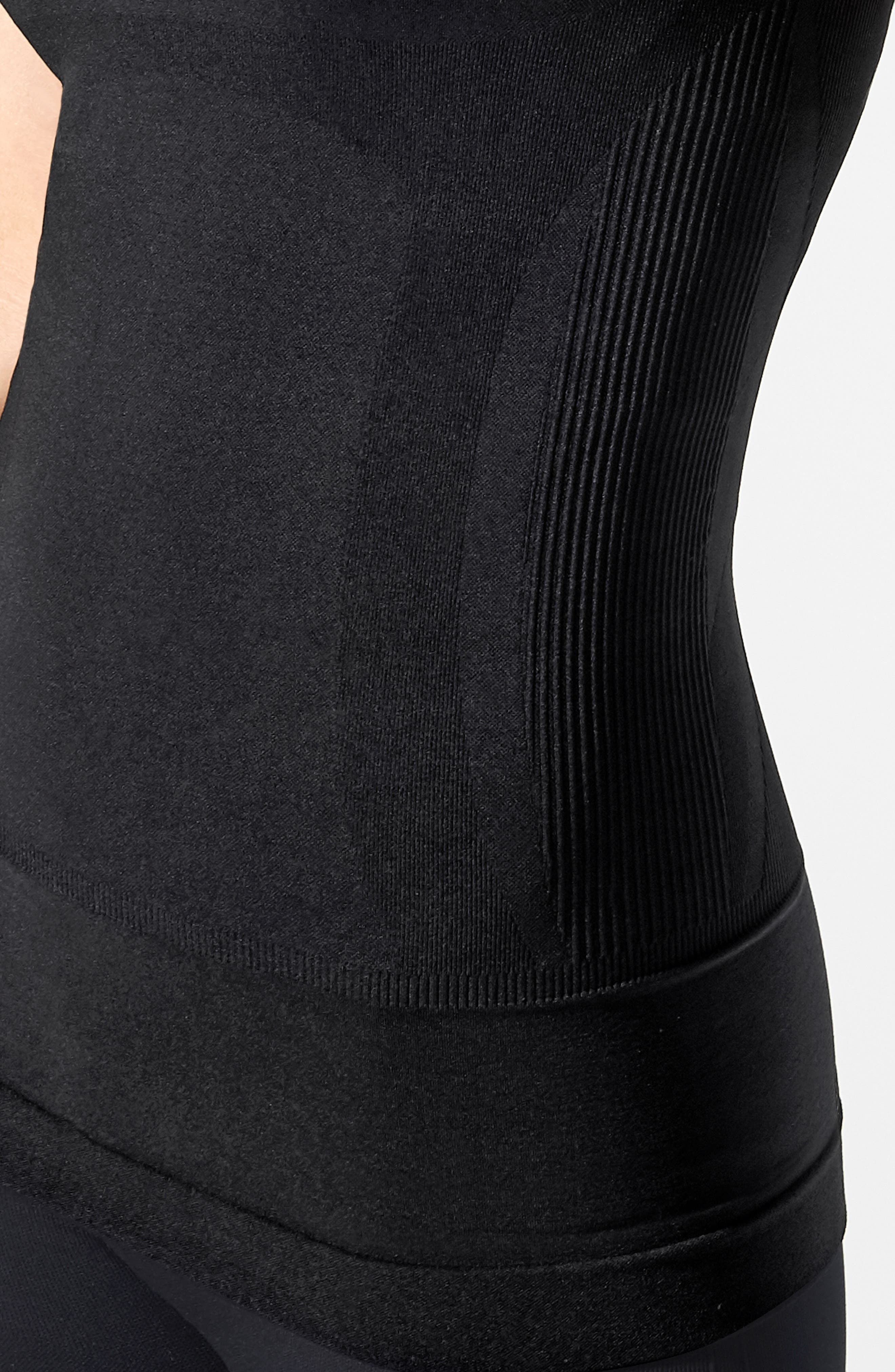 Everyday<sup>™</sup> Lift-Up Access Postpartum + Nursing Support Tank,                             Alternate thumbnail 6, color,                             DEEPEST BLACK