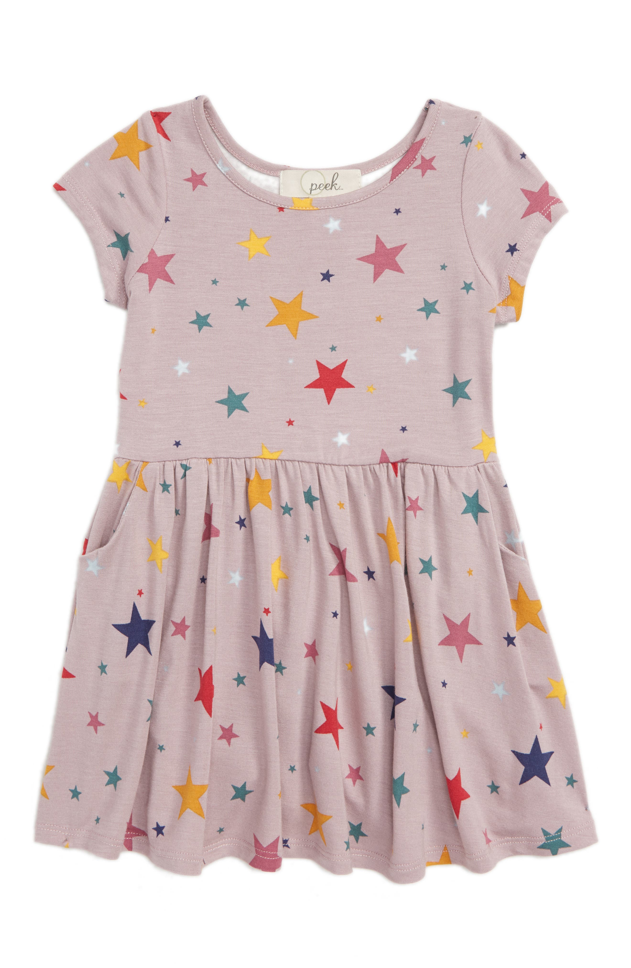 Candice Star Print Dress,                         Main,                         color, LILAC