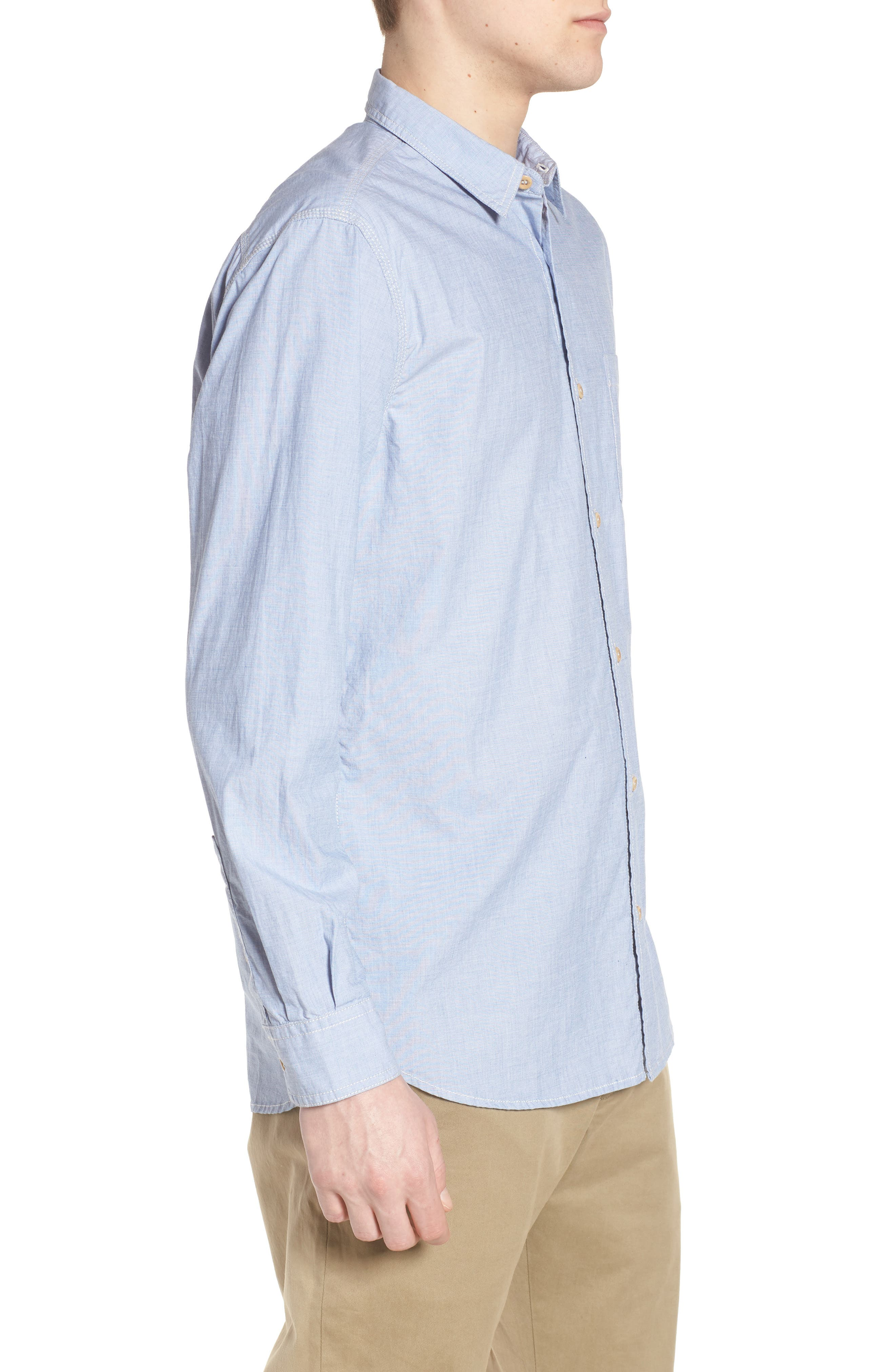 Regular Fit Solid Sport Shirt,                             Alternate thumbnail 3, color,