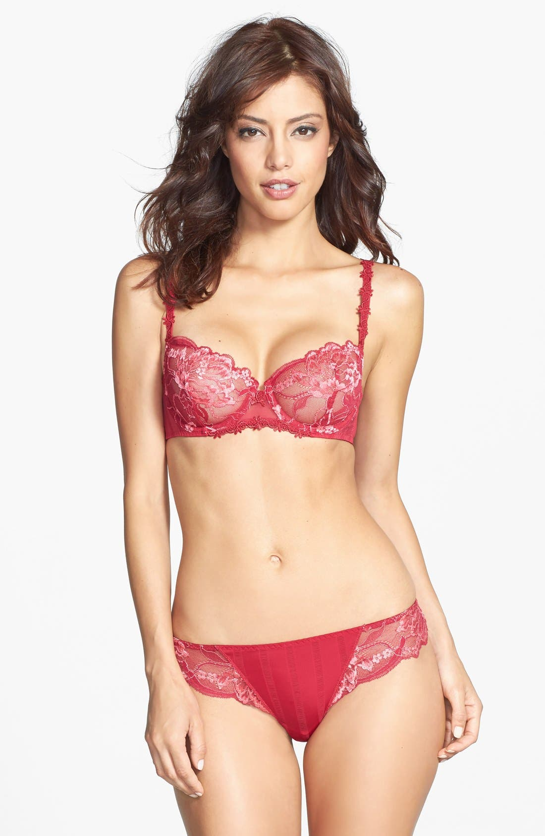 'Amour' Underwire Demi Bra,                             Alternate thumbnail 52, color,