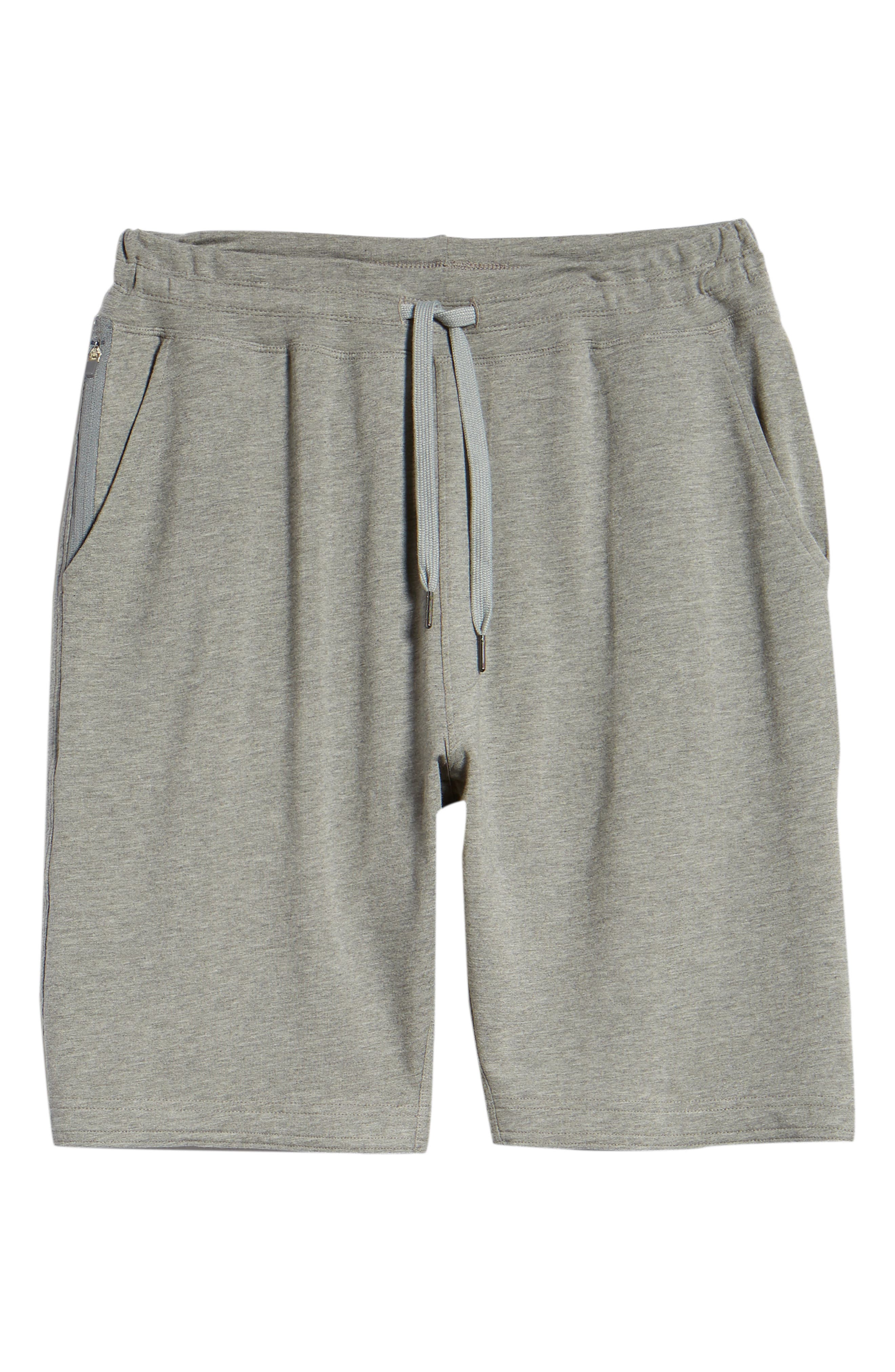 Legacy II Semi-Fitted Knit Athletic Shorts,                             Alternate thumbnail 6, color,                             HEATHER GRAY