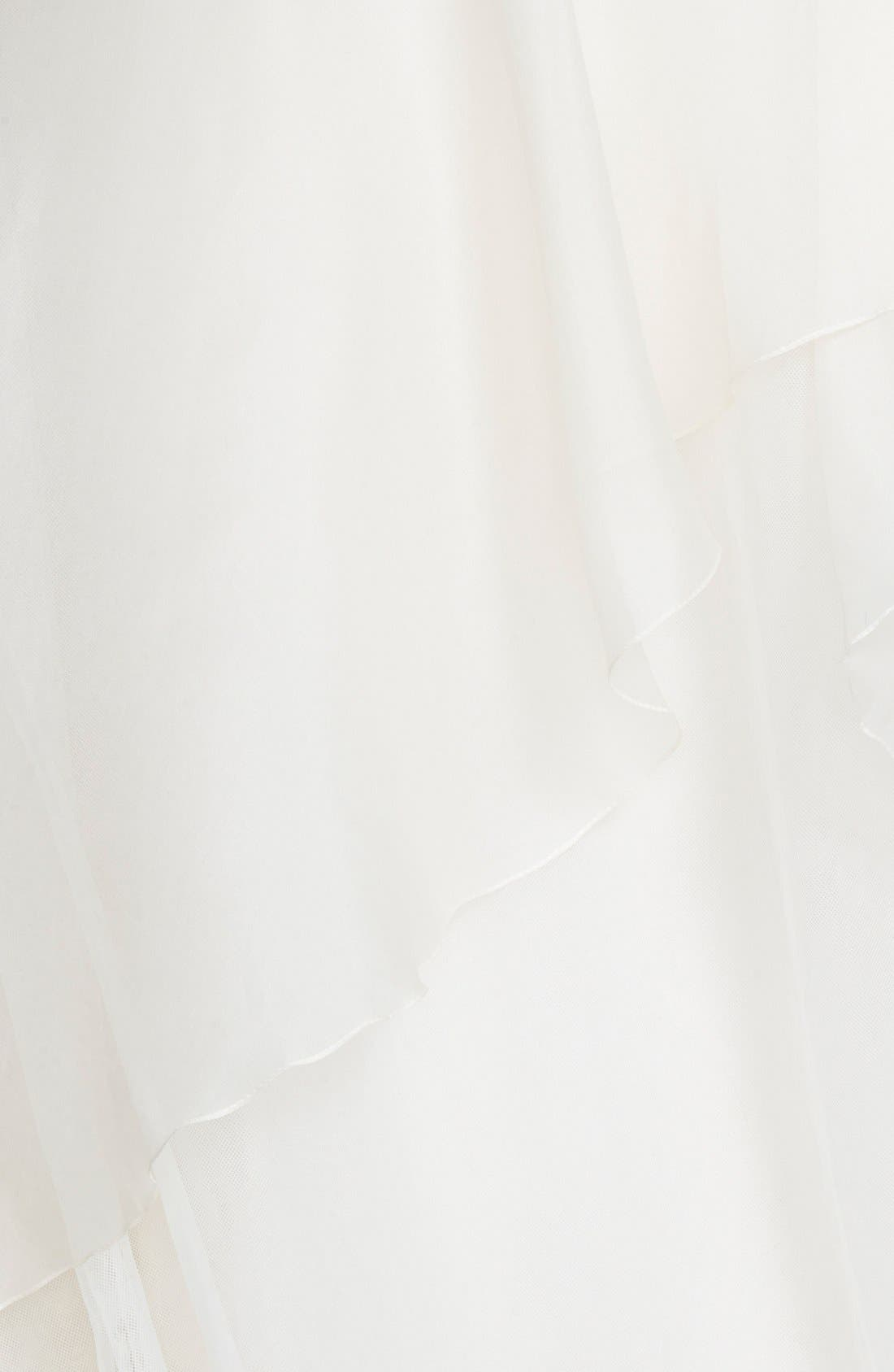 'Hailee' Silk Organza Strapless Flared Gown,                             Alternate thumbnail 3, color,                             650