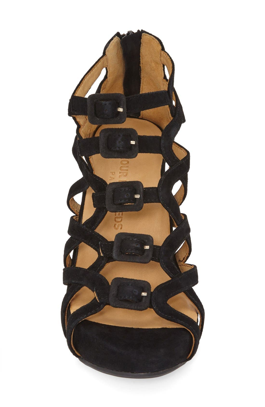 Ivanna' Gladiator Wedge Sandal,                             Alternate thumbnail 12, color,