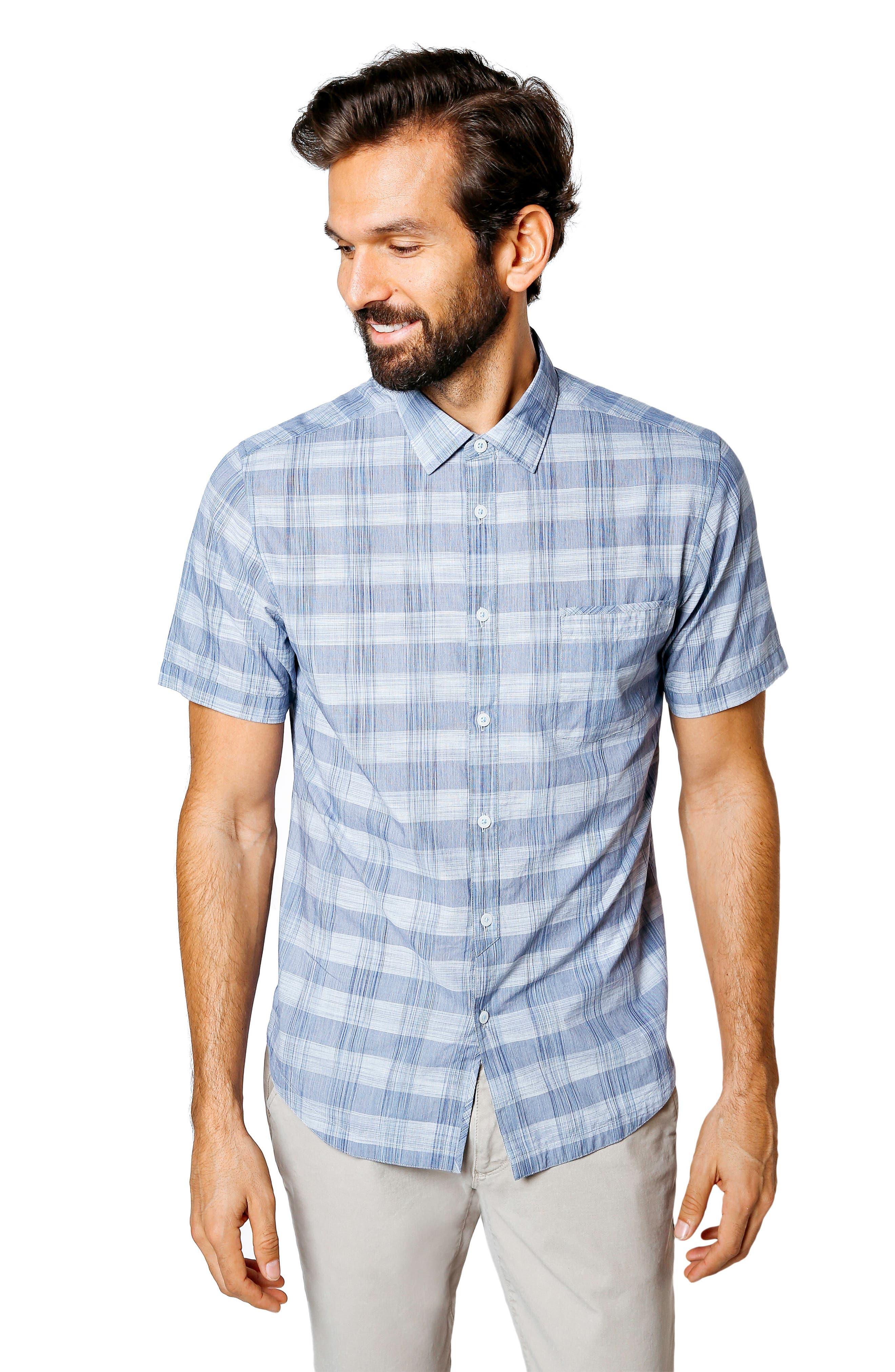 GOOD MAN BRAND,                             Palisade Space Trim Fit Check Sport Shirt,                             Alternate thumbnail 5, color,                             410