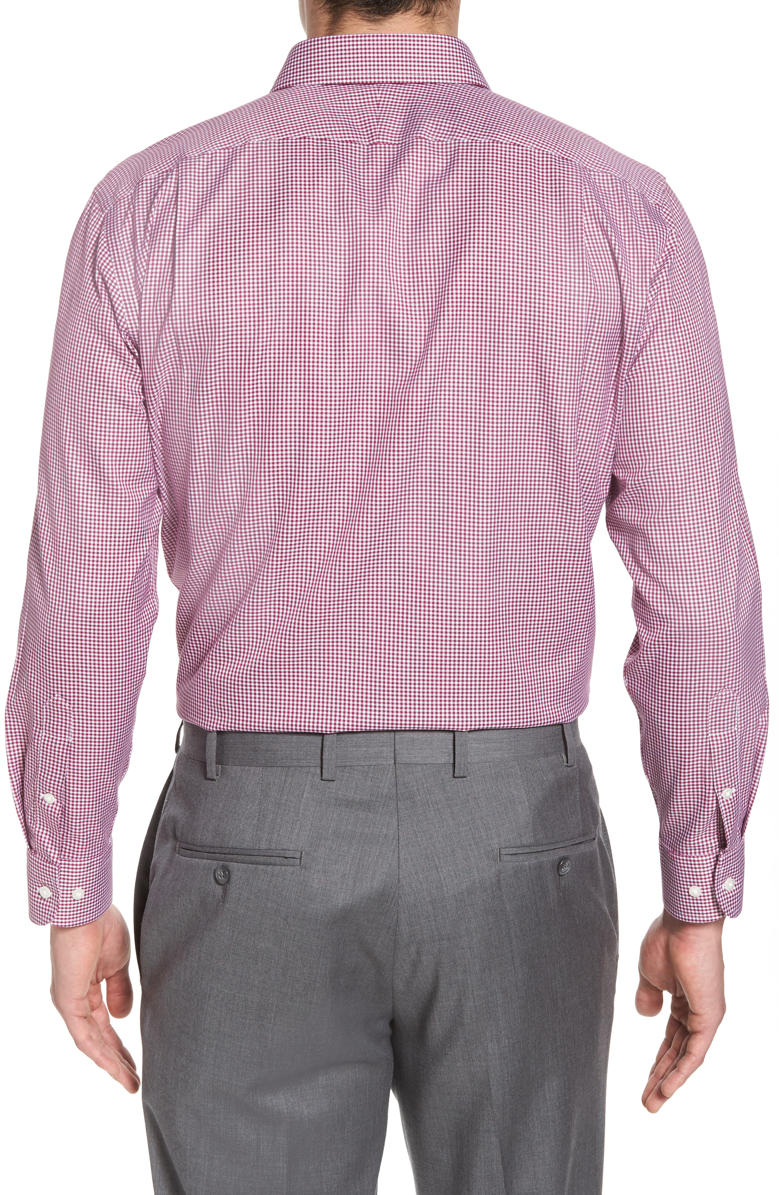 Smartcare<sup>™</sup> Trim Fit Mini Check Dress Shirt,                             Alternate thumbnail 3, color,                             510