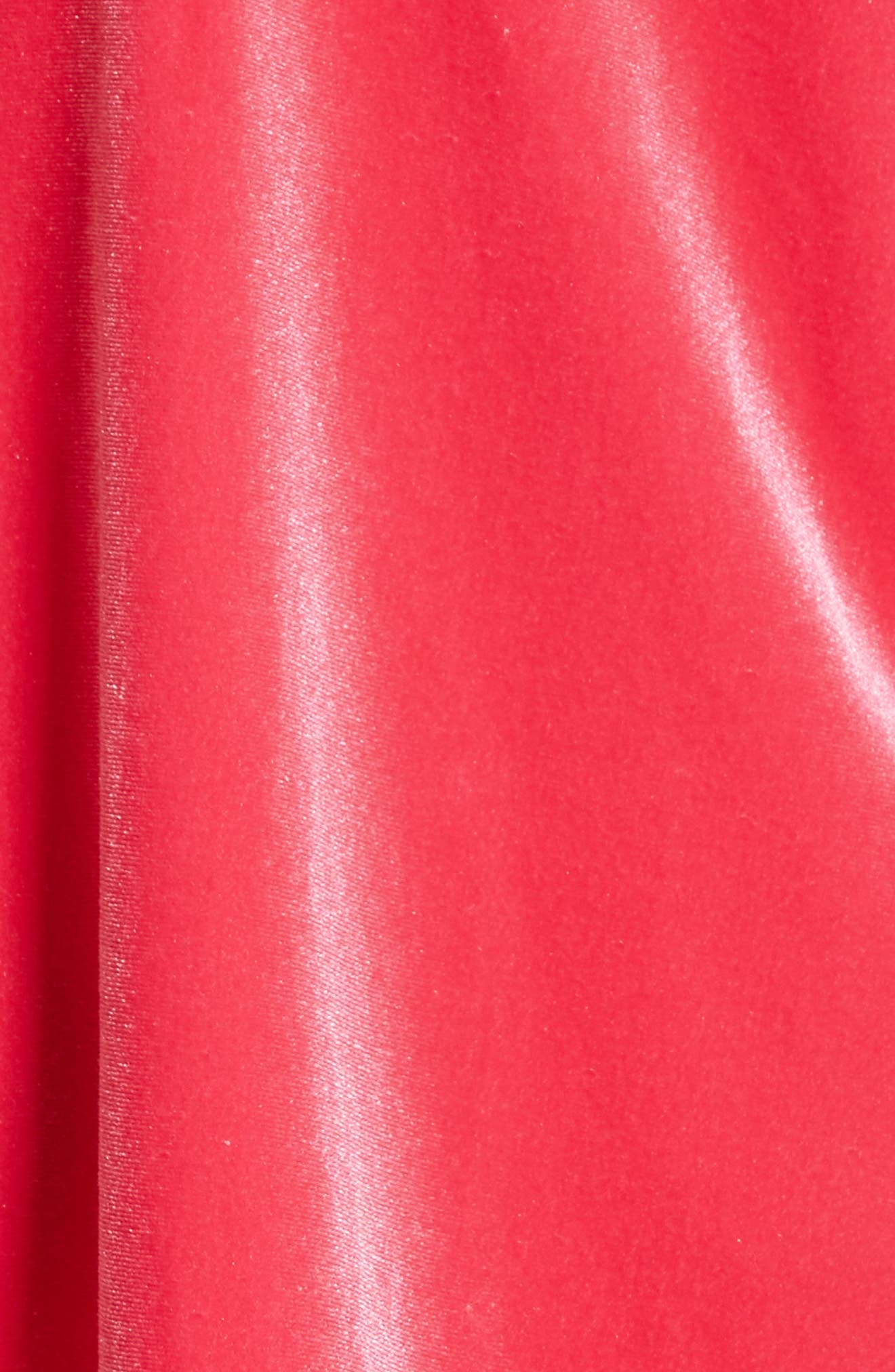 Misha Velvet Minidress,                             Alternate thumbnail 14, color,