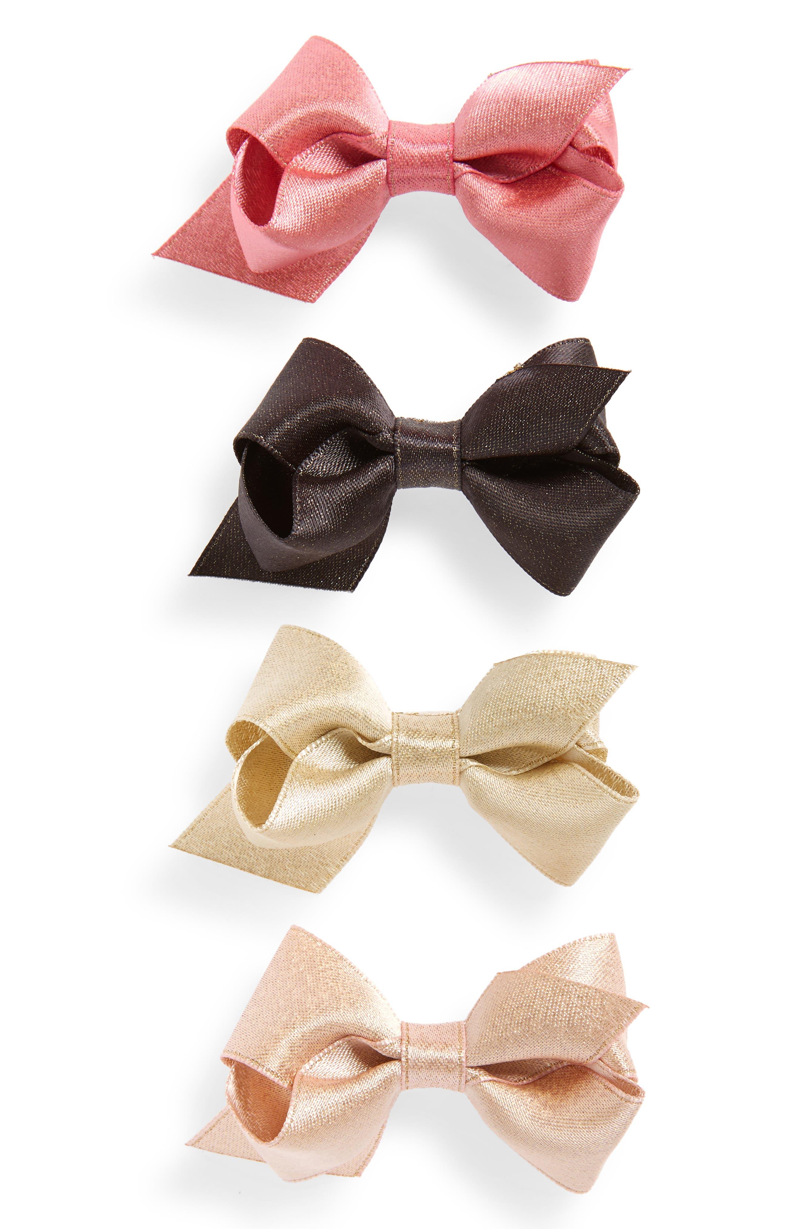 4-Pack Sparkle Hair Clips,                         Main,                         color, MULTI