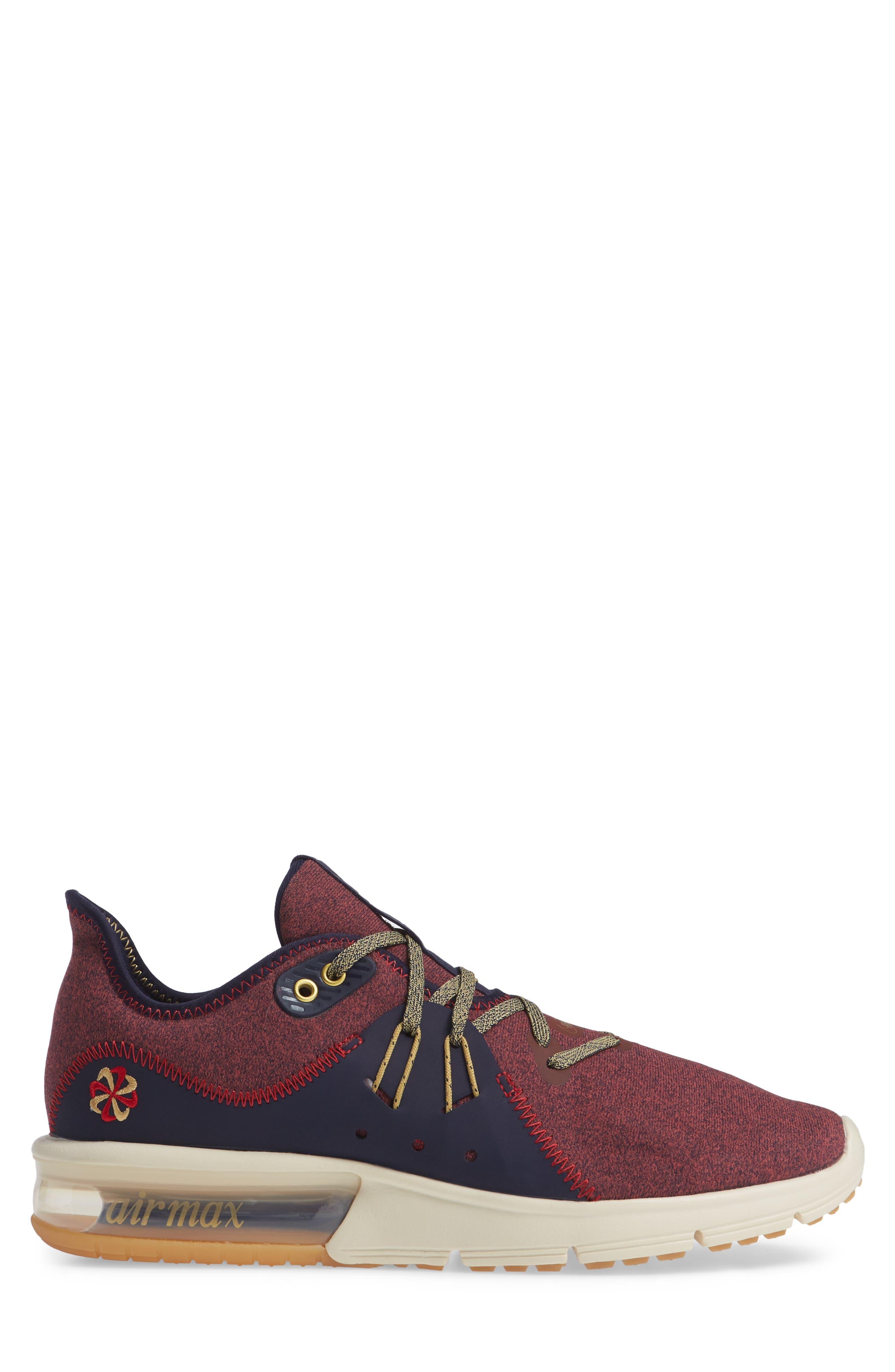 Air Max Sequent 3 PRM VST Sneaker,                             Alternate thumbnail 3, color,                             600