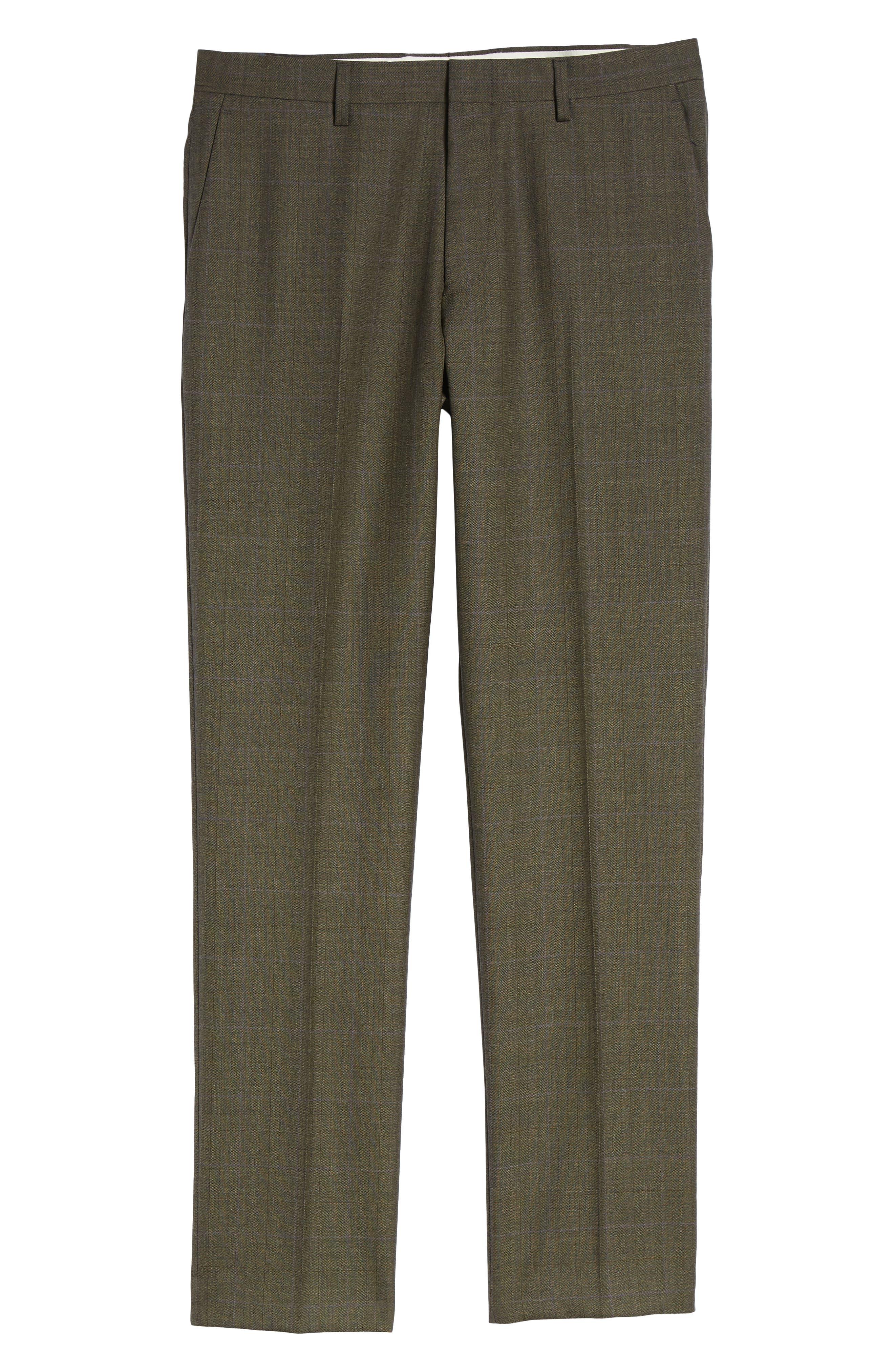 Ludlow Trim Fit Herringbone Wool Pants,                             Alternate thumbnail 6, color,                             300