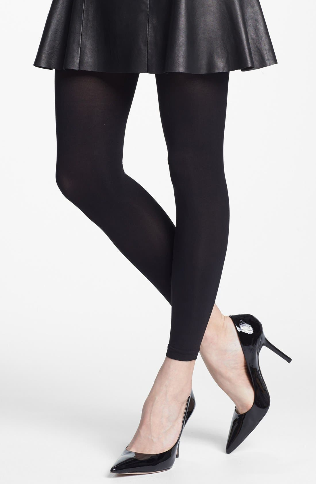 'Everyday' Footless Tights,                             Alternate thumbnail 2, color,                             001