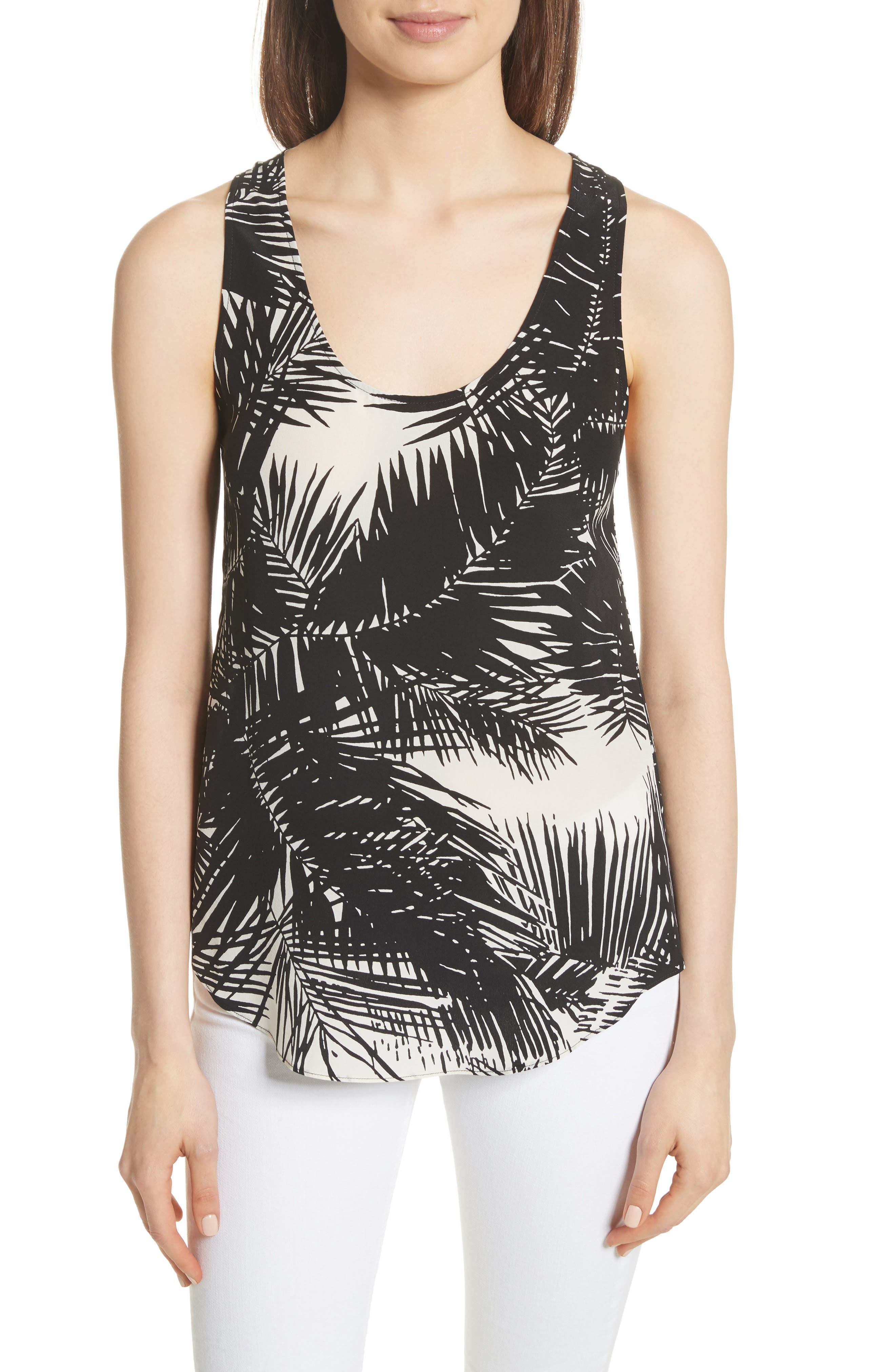 Serene CD Silk Tank,                         Main,                         color,
