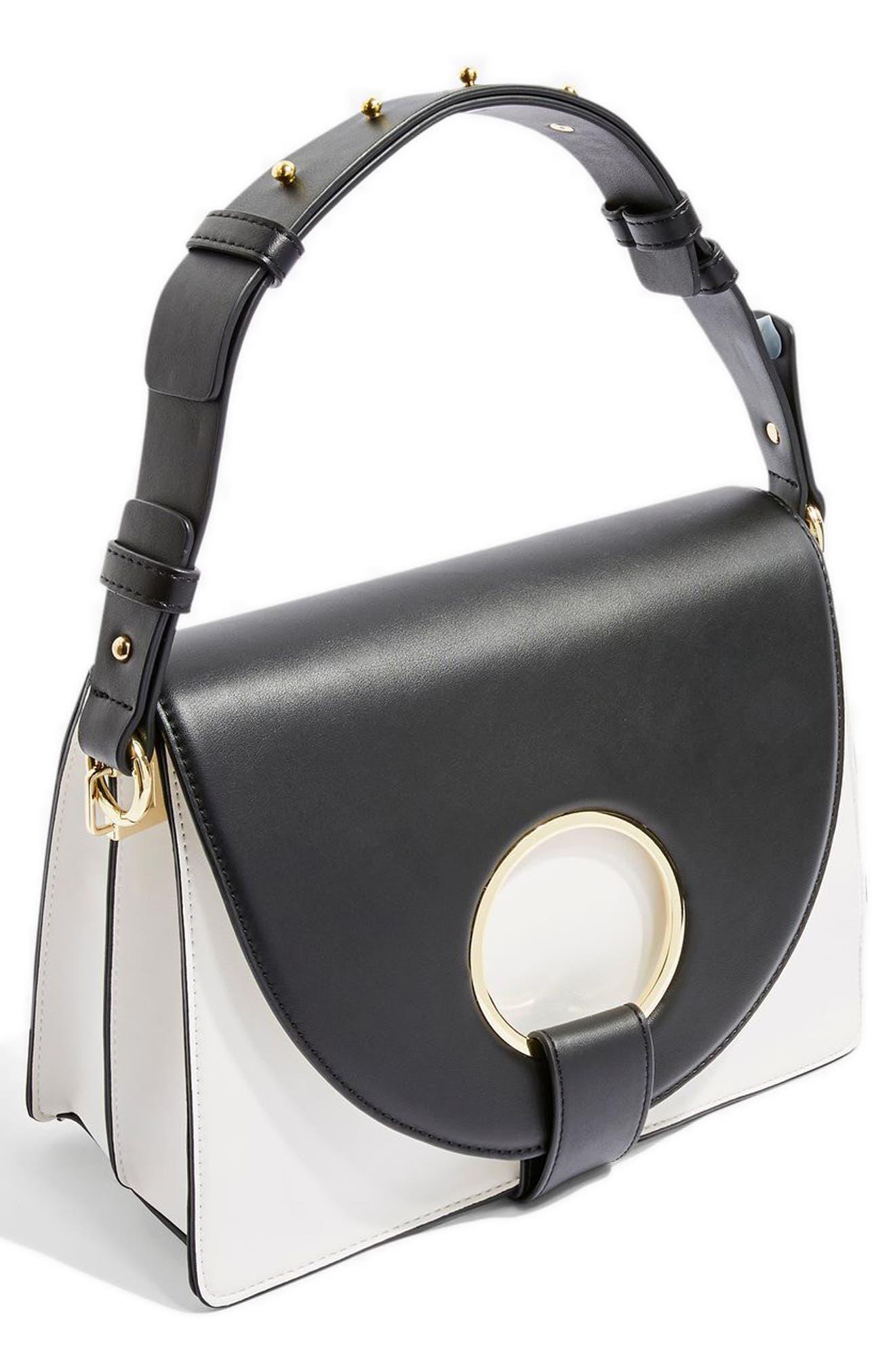 Shay Ring Shoulder Bag,                         Main,                         color, 100
