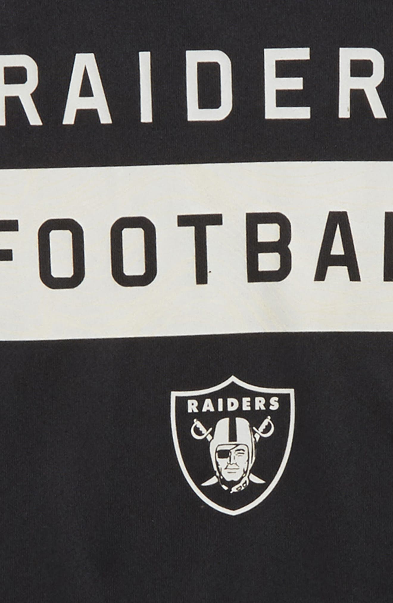 NFL Oakland Raiders Dry Legend Lift T-Shirt,                             Alternate thumbnail 2, color,                             BLACK