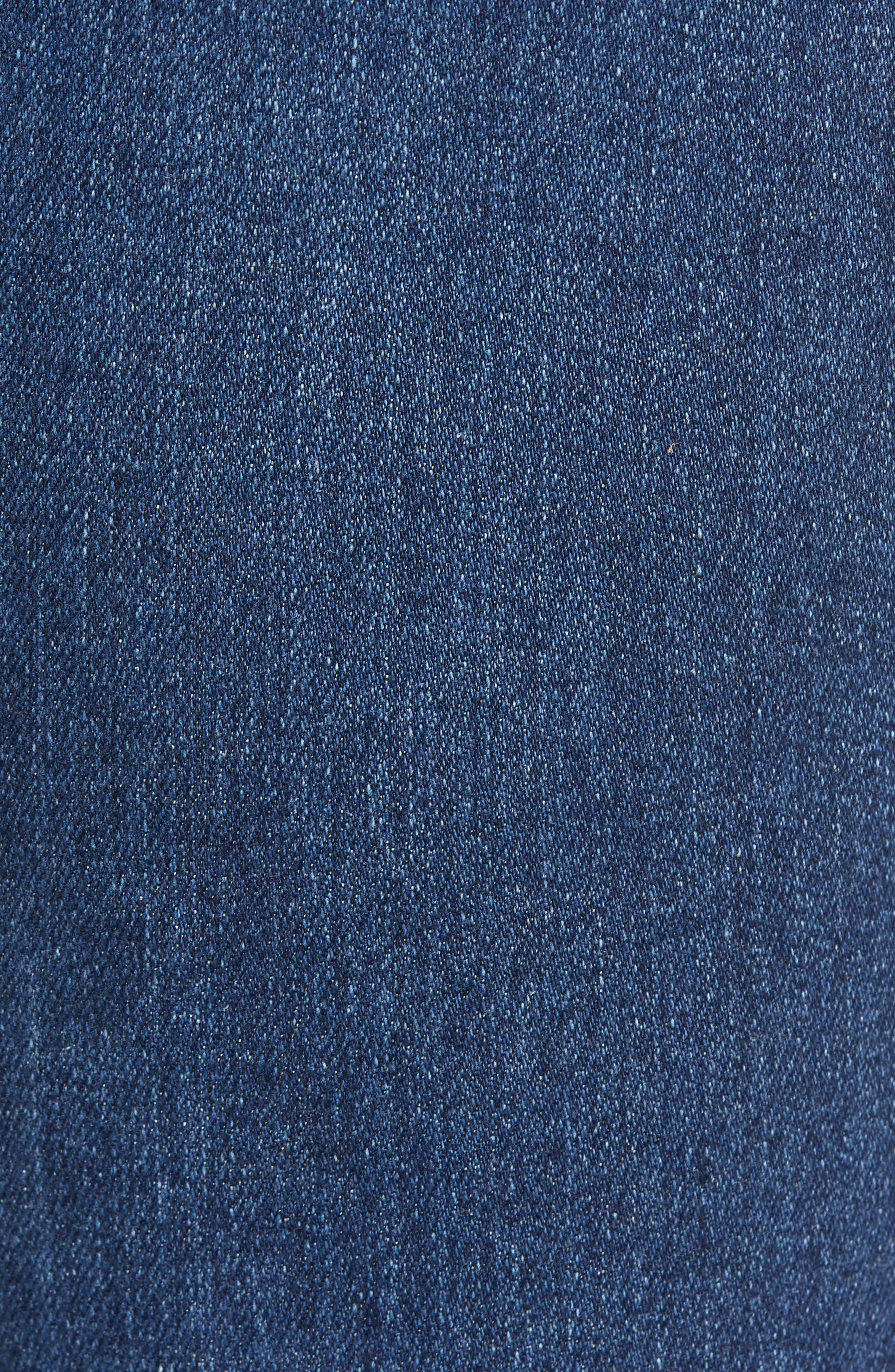 Prima Ankle Cigarette Jeans,                             Alternate thumbnail 6, color,                             8 YEARS BLUE PORTRAIT
