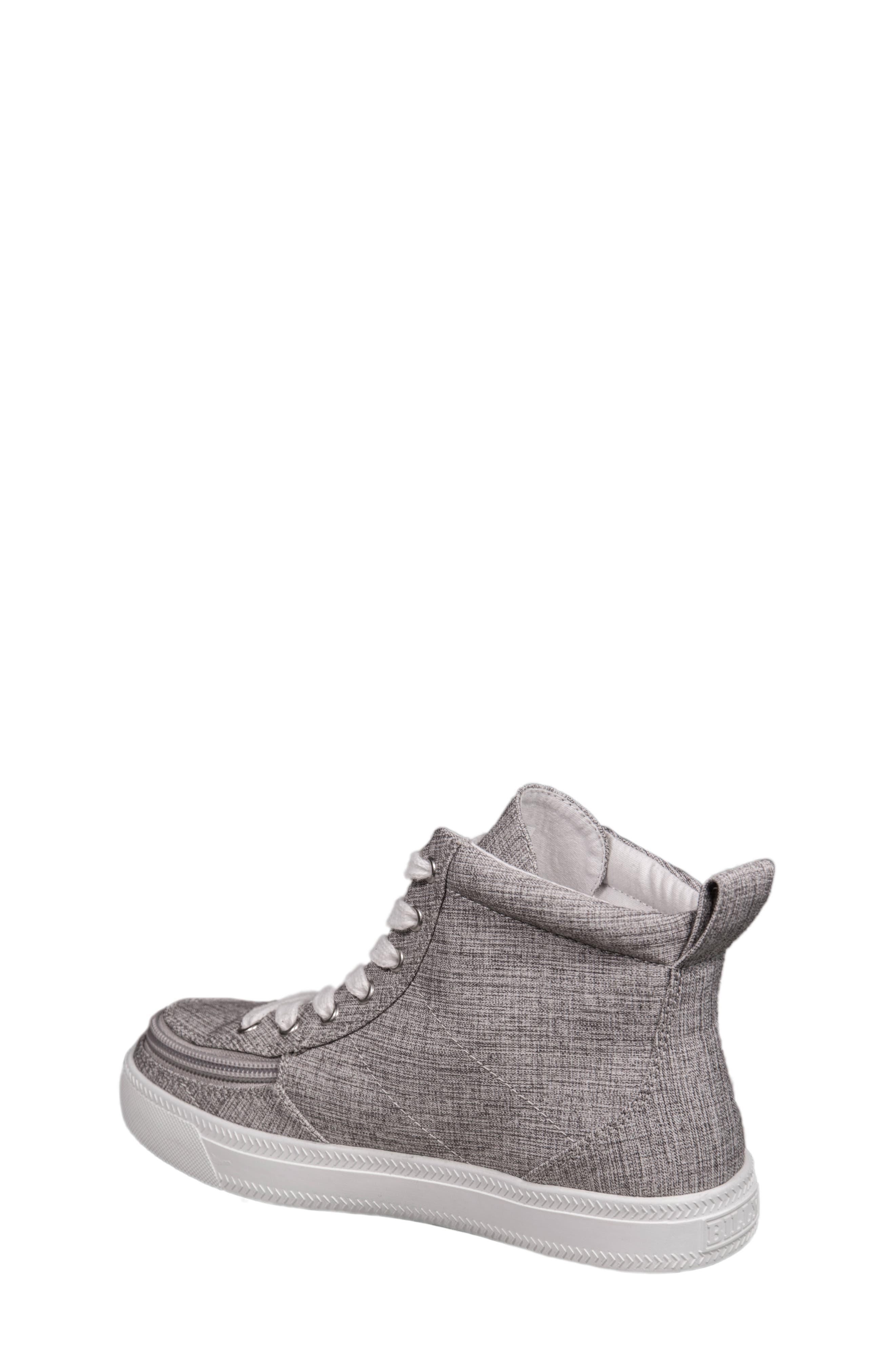 Zip Around High Top Sneaker,                             Alternate thumbnail 2, color,                             GREY JERSEY
