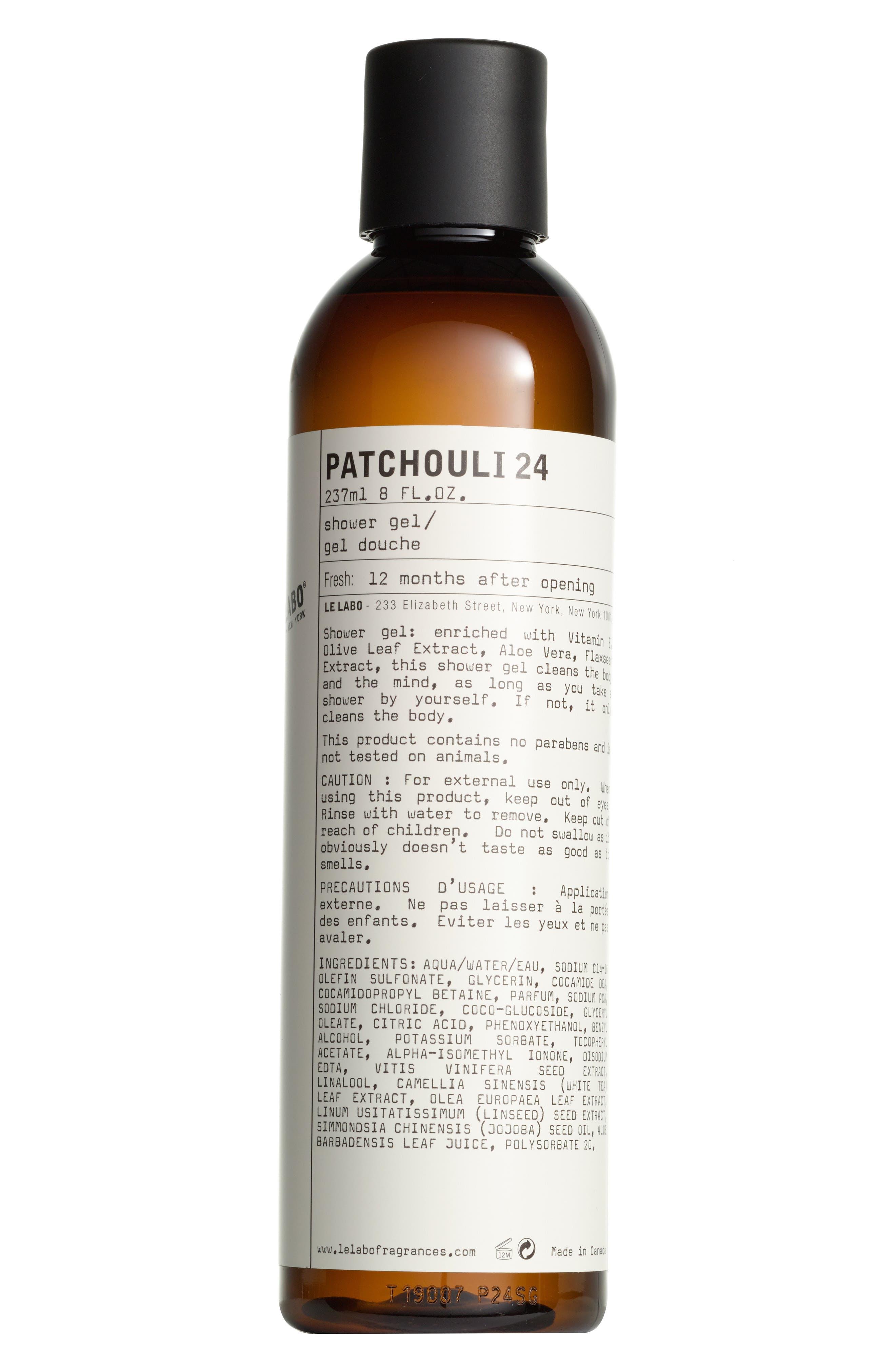 'Patchouli 24' Shower Gel,                             Alternate thumbnail 3, color,                             NO COLOR