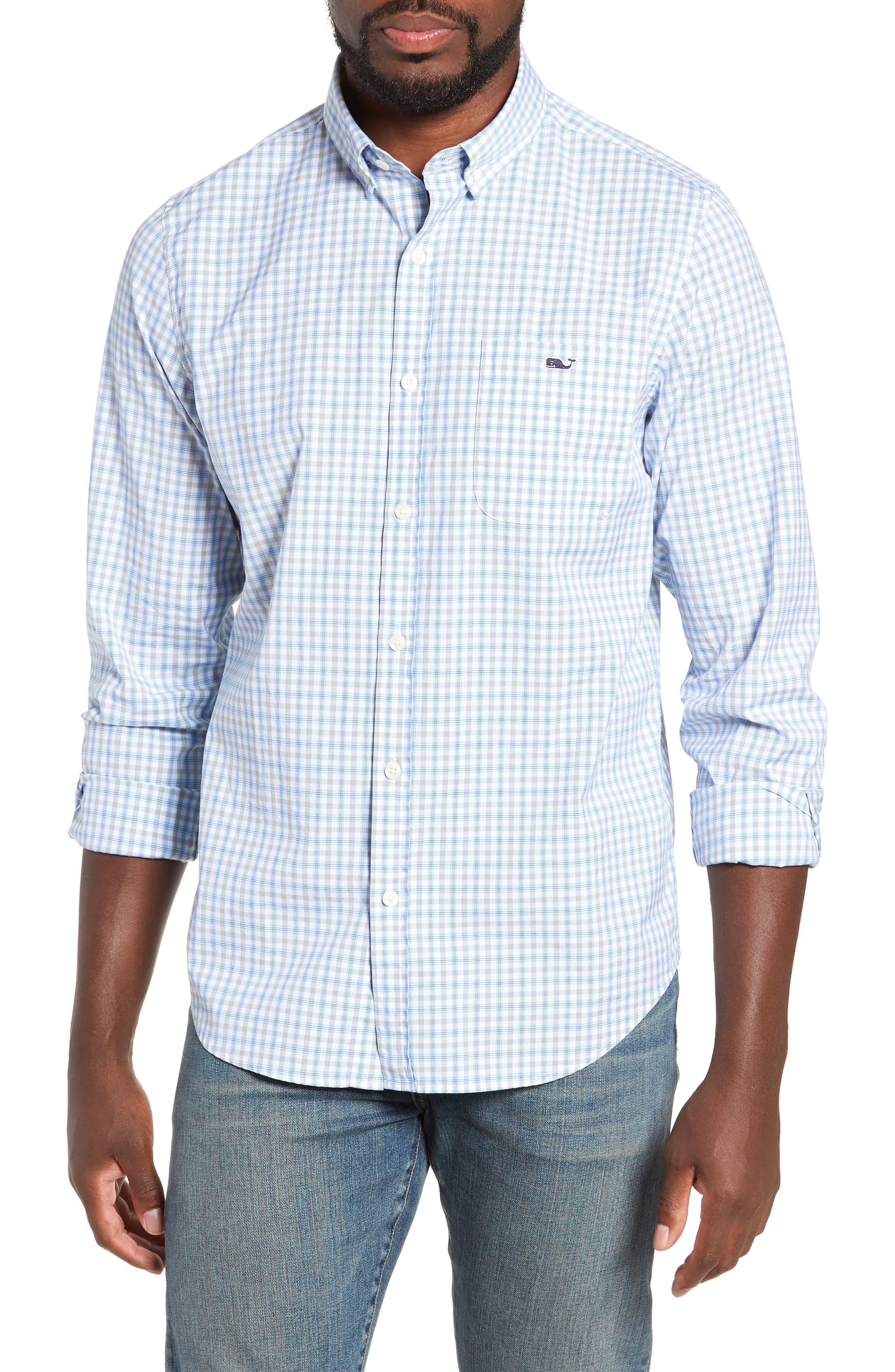 Vineyard Vines Murray Slim Fit Sport Shirt, Grey