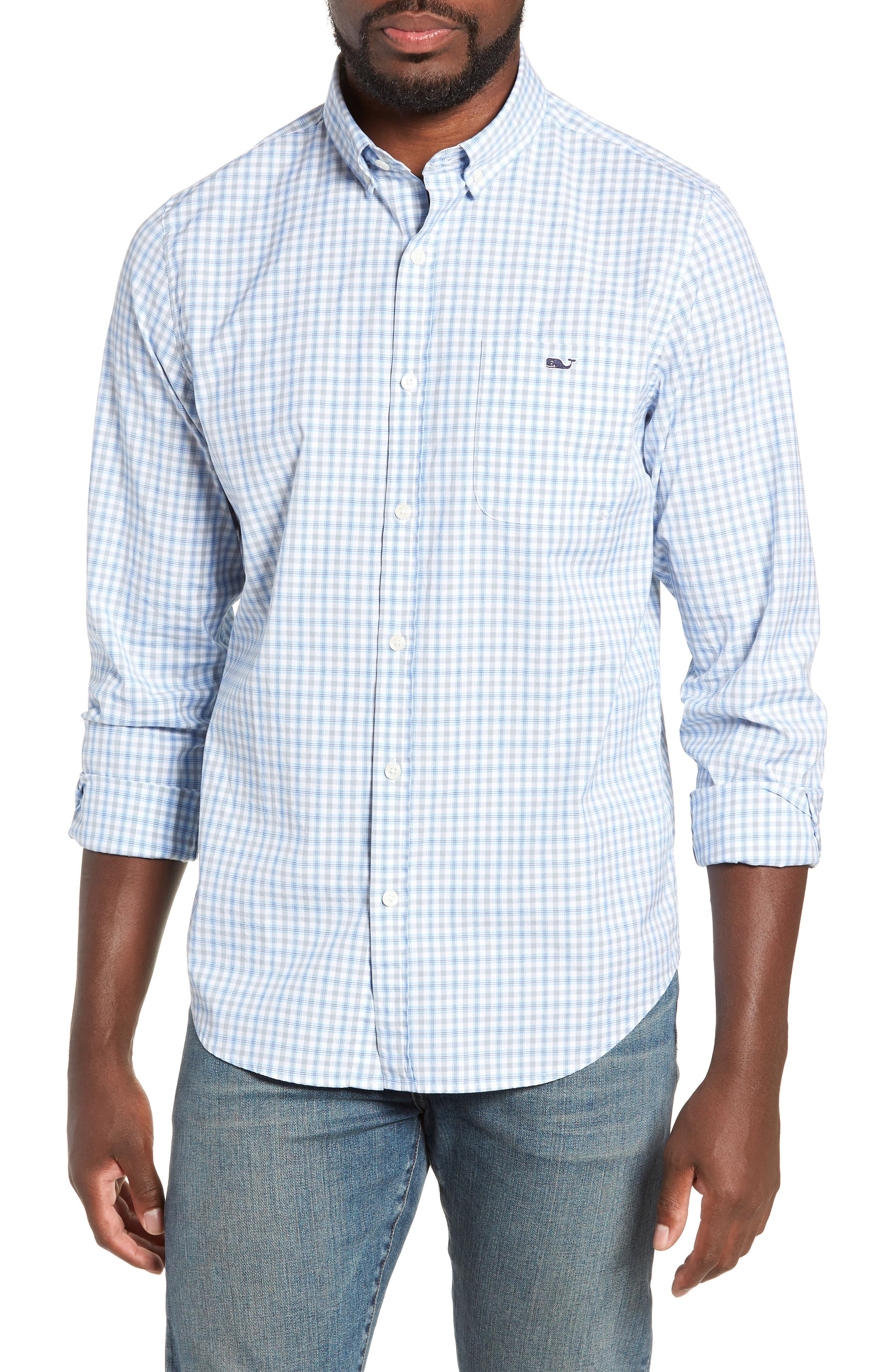 VINEYARD VINES,                             Murray Slim Fit Sport Shirt,                             Main thumbnail 1, color,                             034