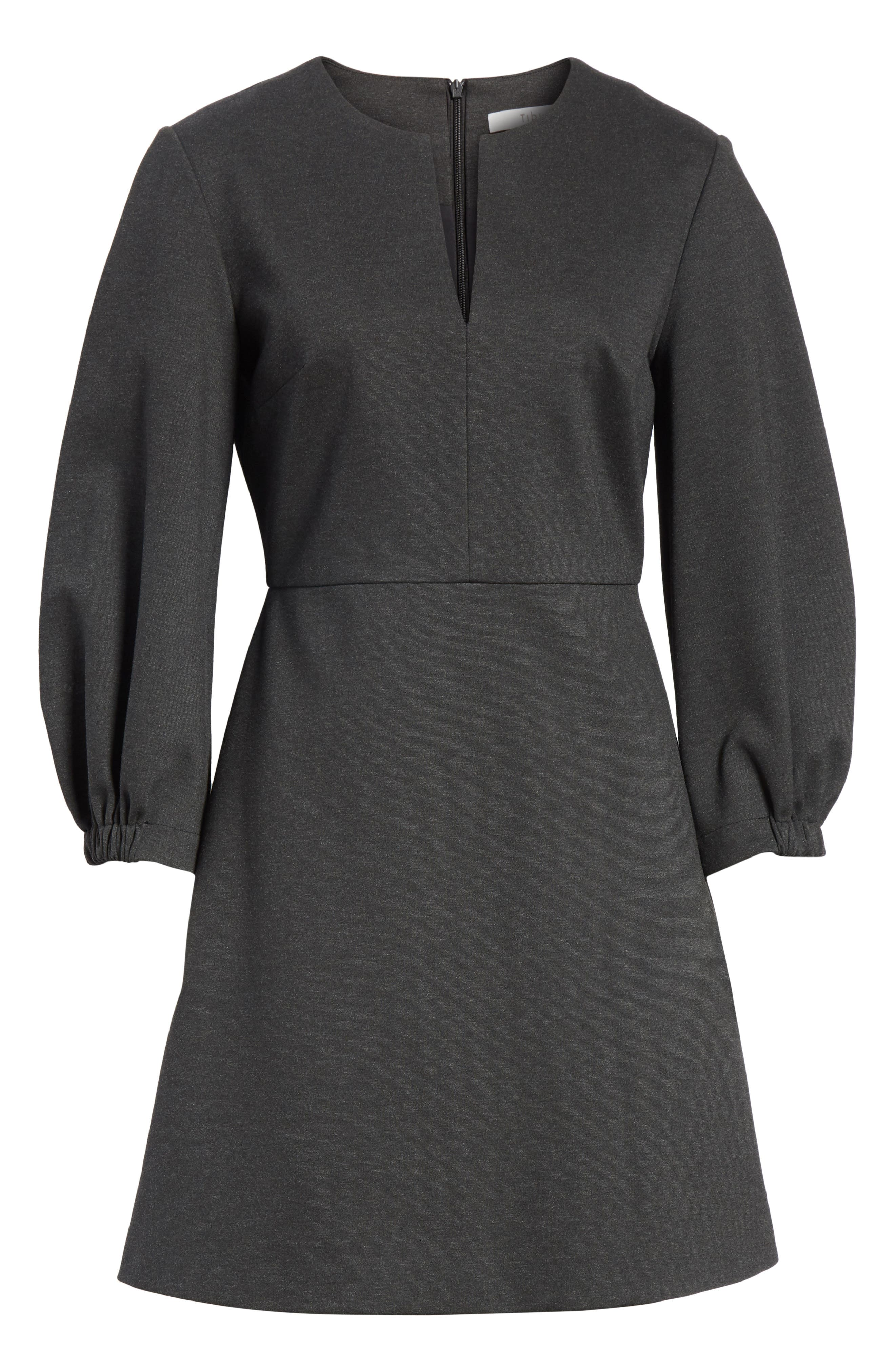 Bond Stretch Knit Puff Sleeve Dress,                             Alternate thumbnail 6, color,                             033