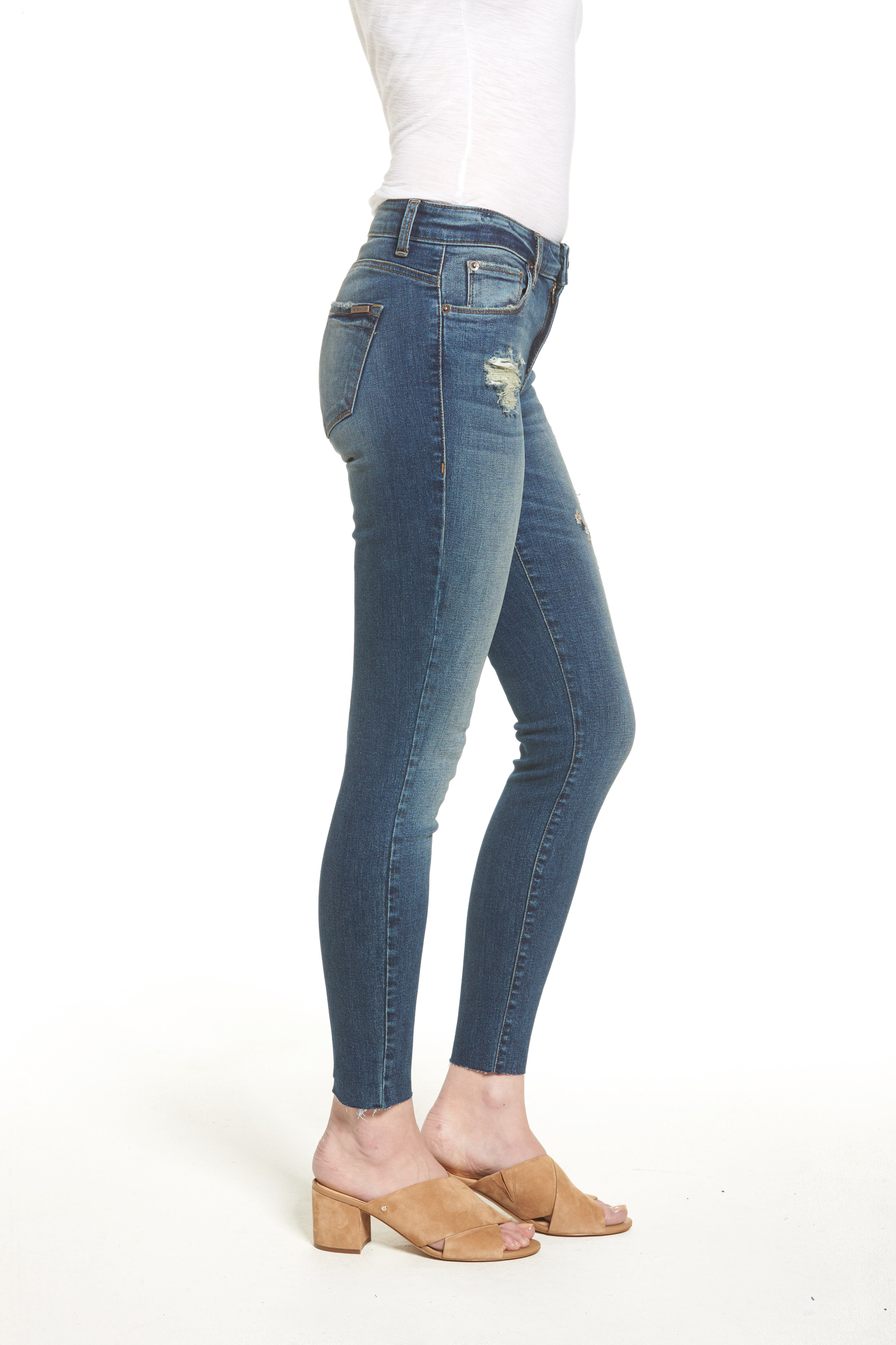 Embroidered Skinny Jeans,                             Alternate thumbnail 3, color,