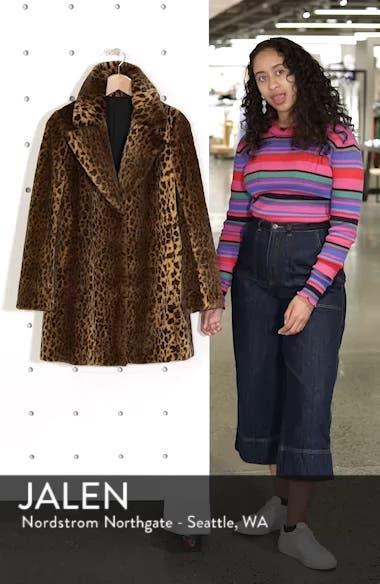 Faux Fur Leopard Print Coat, sales video thumbnail