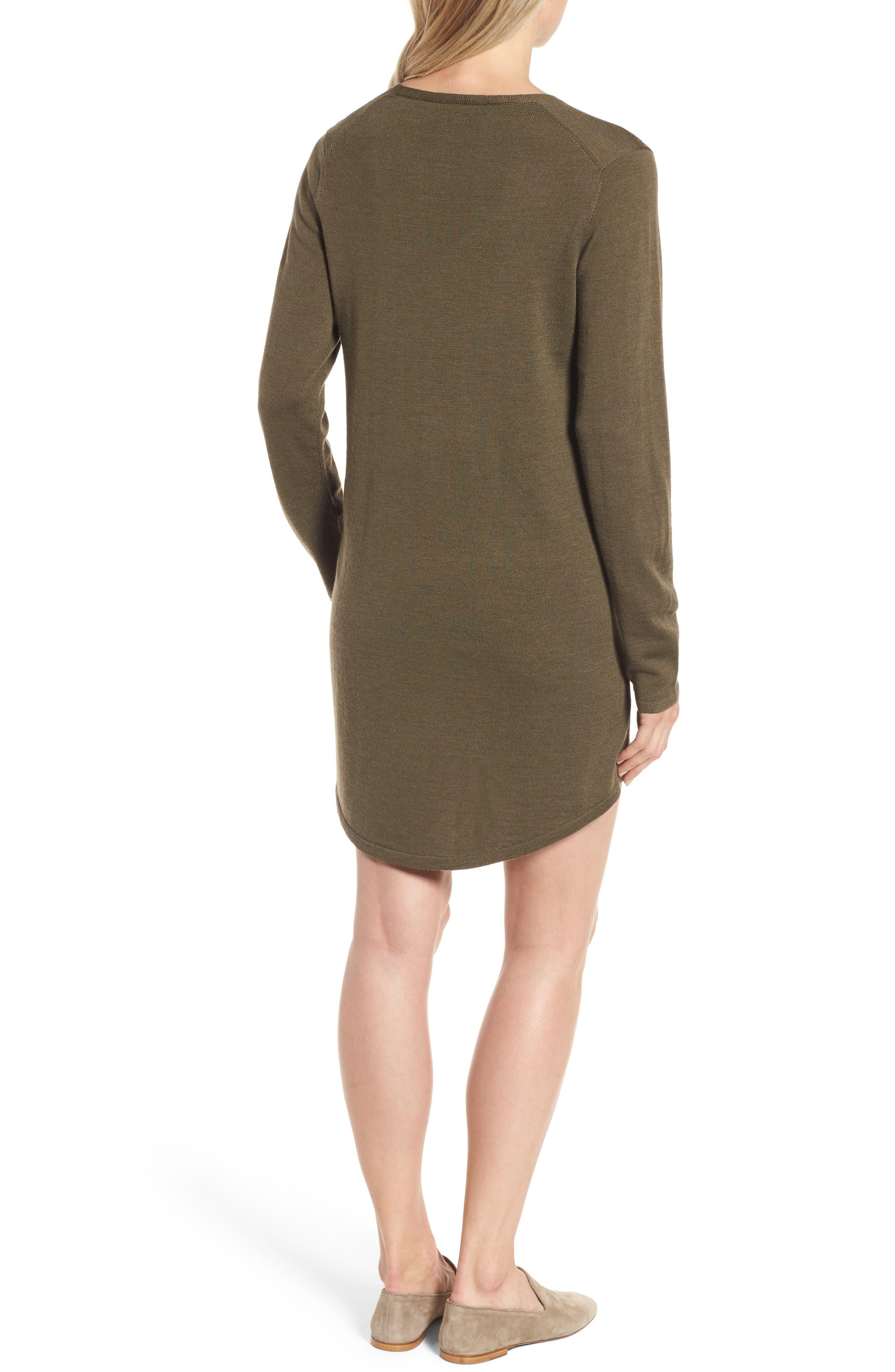 Lightweight Merino Jersey V-Neck Tunic,                             Alternate thumbnail 30, color,