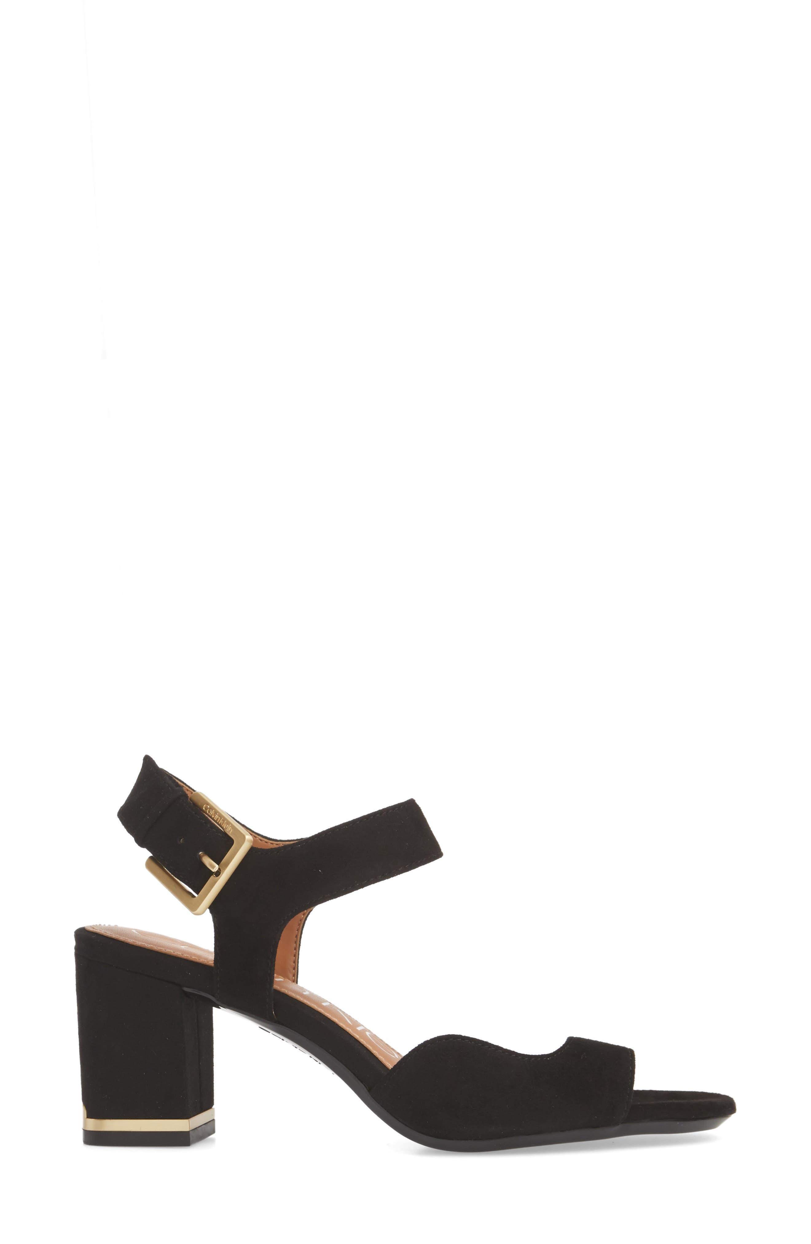 Chantay Asymmetrical Sandal,                             Alternate thumbnail 3, color,                             001