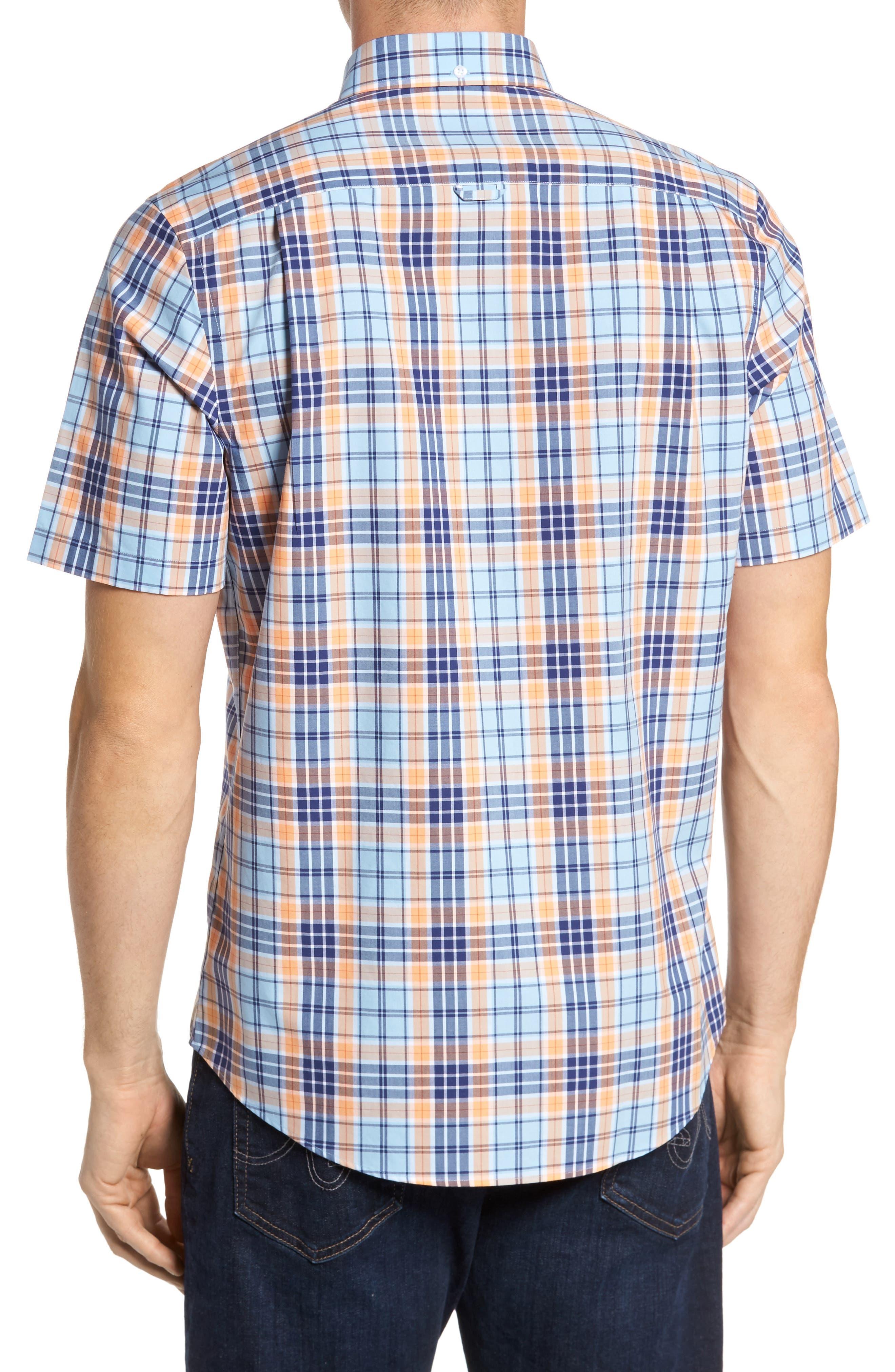 Smartcare<sup>™</sup> Regular Fit Plaid Sport Shirt,                             Alternate thumbnail 8, color,