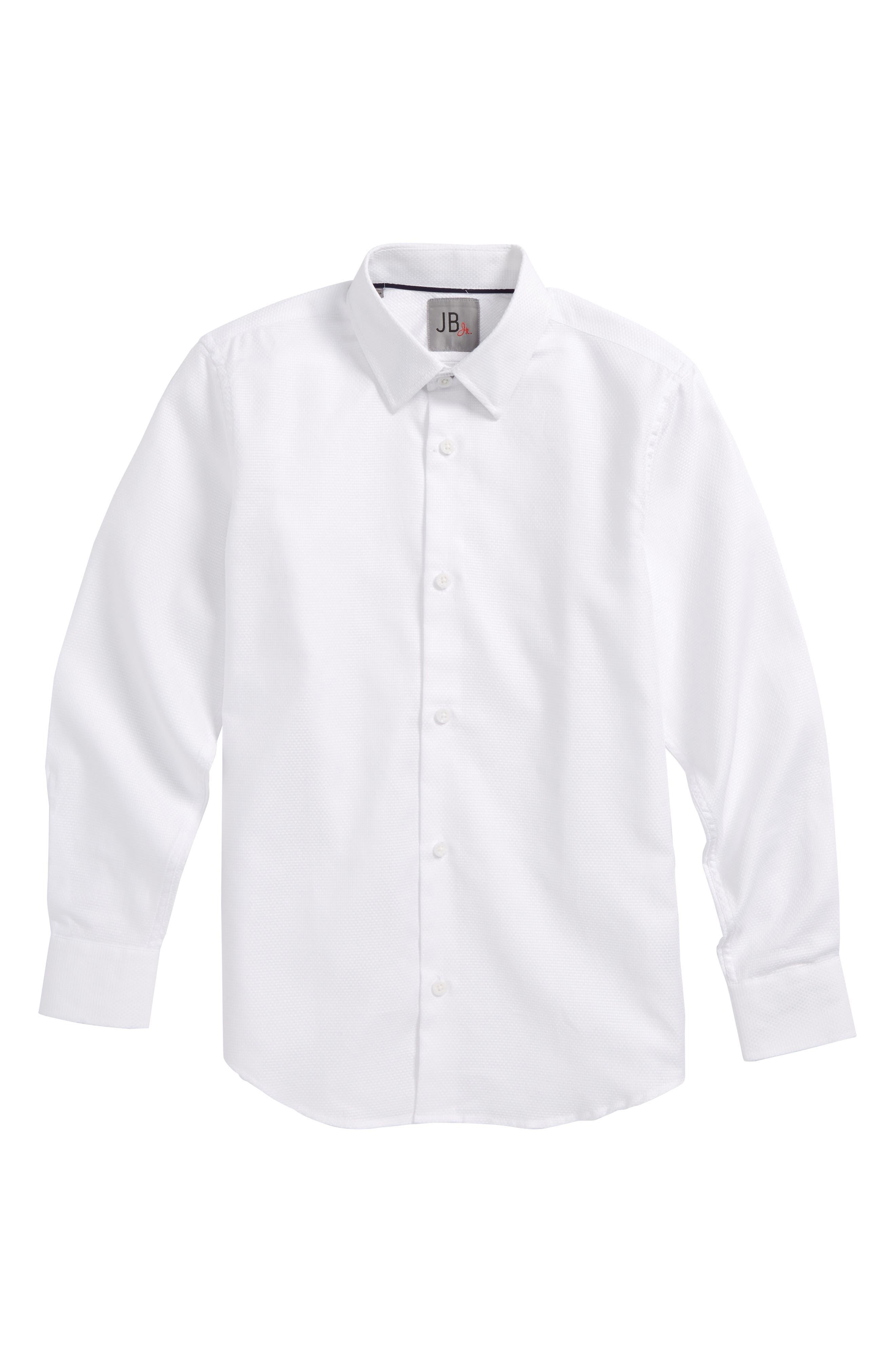 Solid Dress Shirt,                             Main thumbnail 1, color,                             100