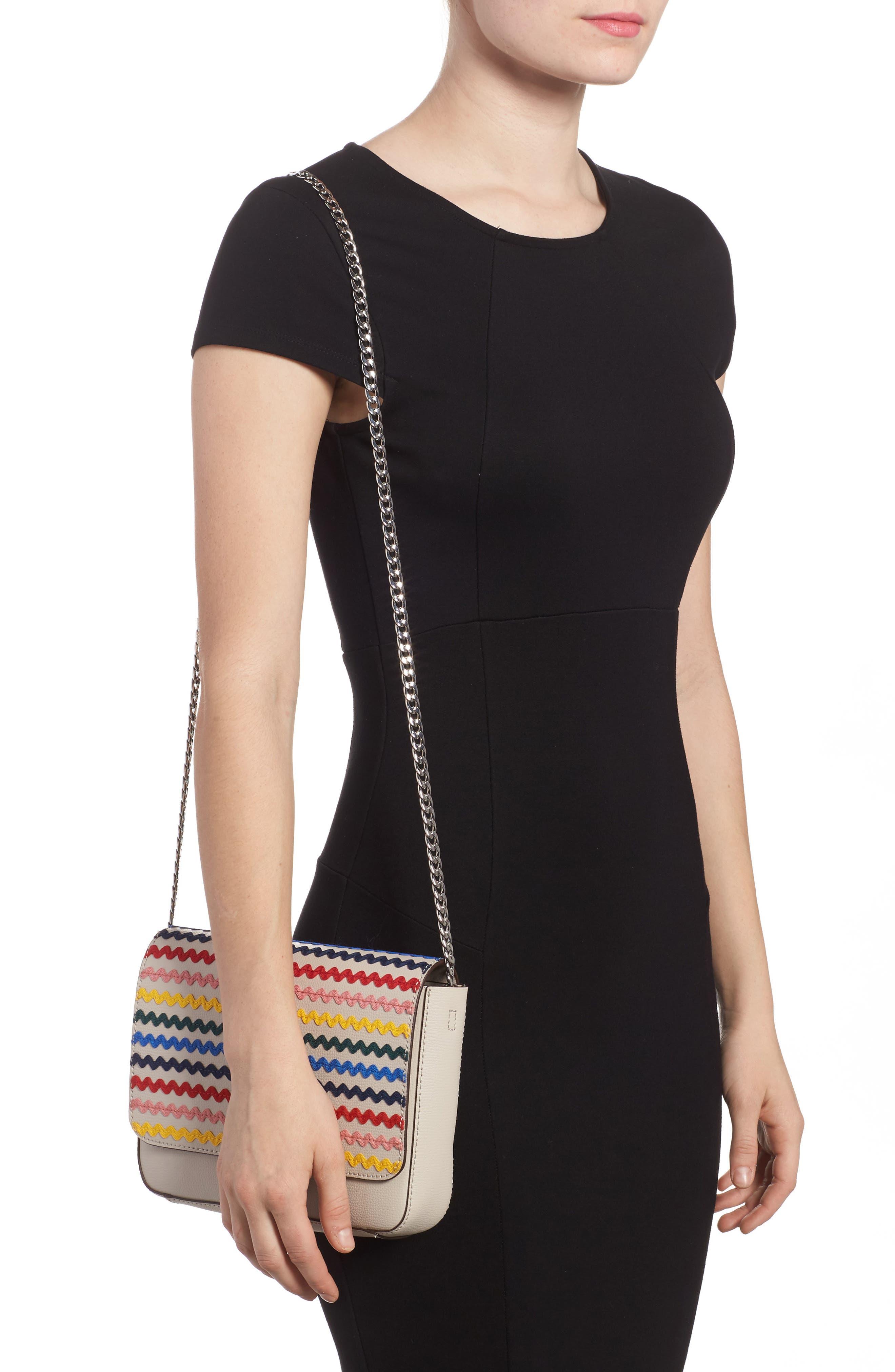 Lock Leather Flap Clutch/Shoulder Bag,                             Alternate thumbnail 2, color,                             030
