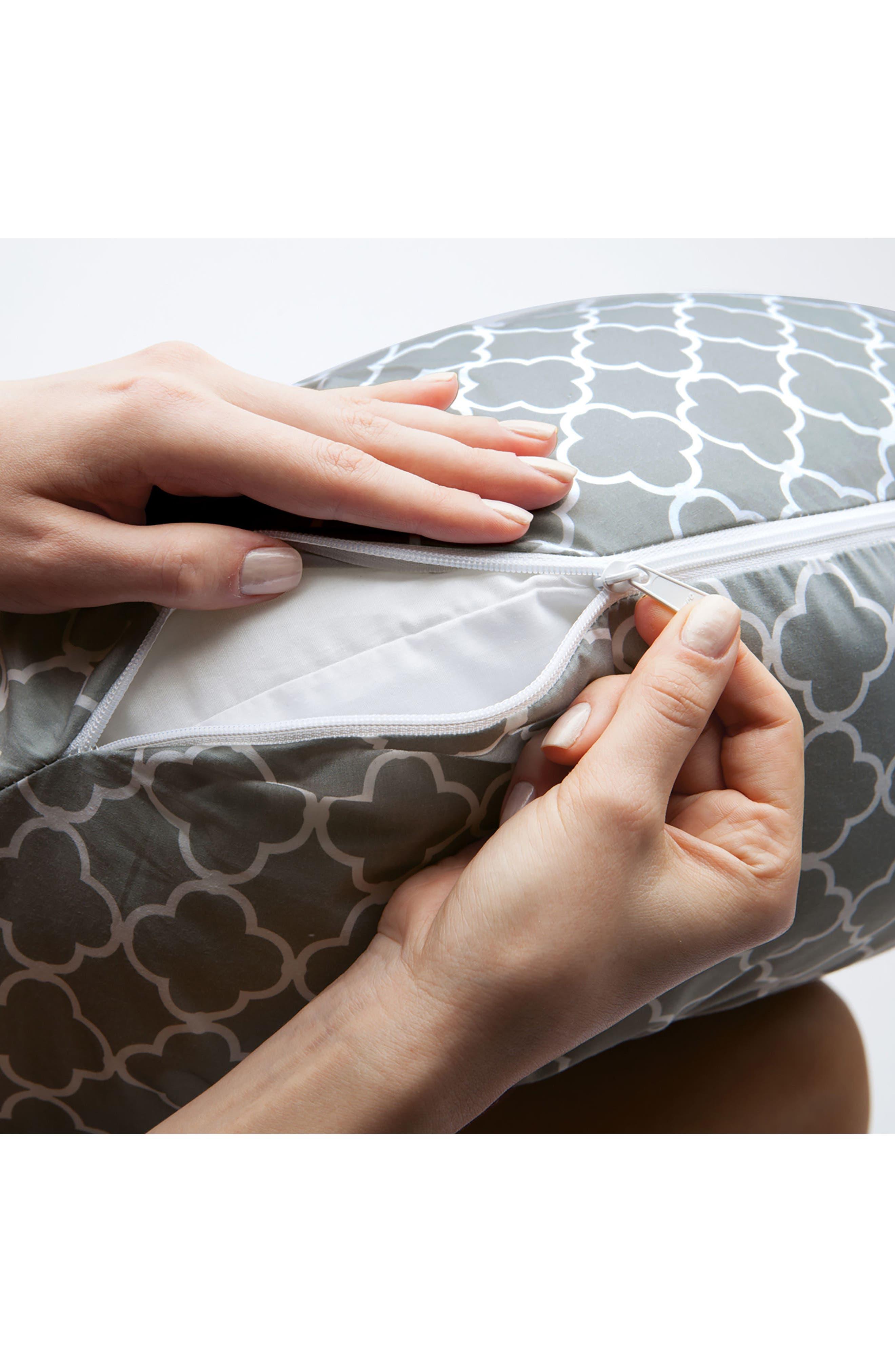 Multi-use Pregnancy Support Pillow,                             Alternate thumbnail 4, color,                             GREY TRELLIS