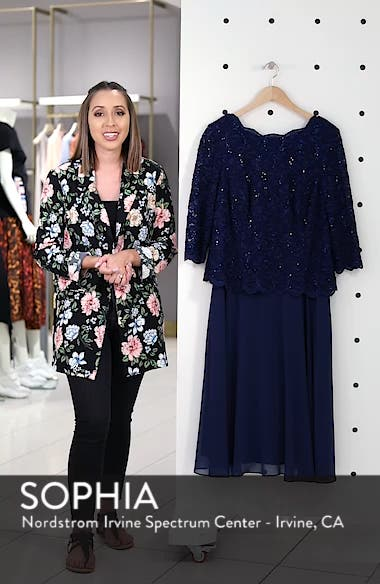 Mock Two-Piece Tea Length Dress, sales video thumbnail