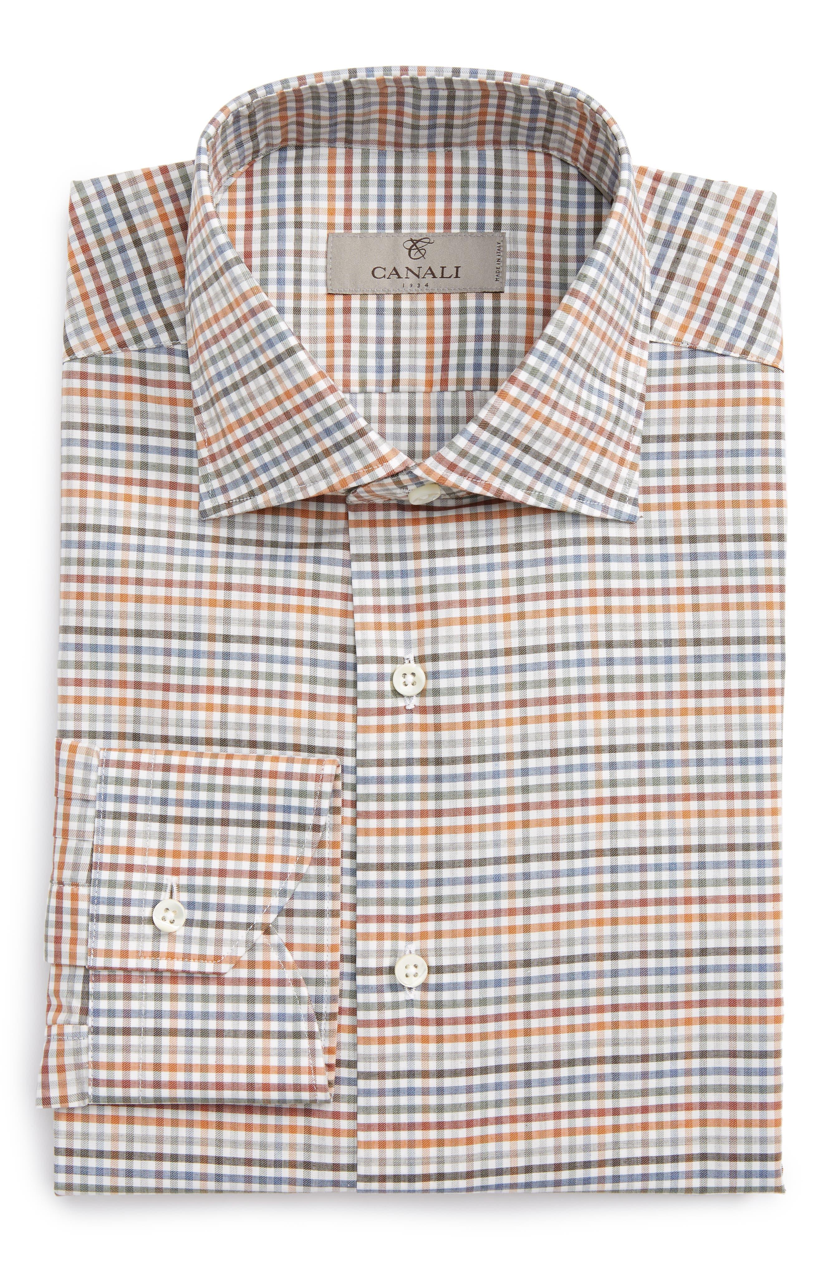 Regular Fit Check Dress Shirt,                             Main thumbnail 1, color,                             300