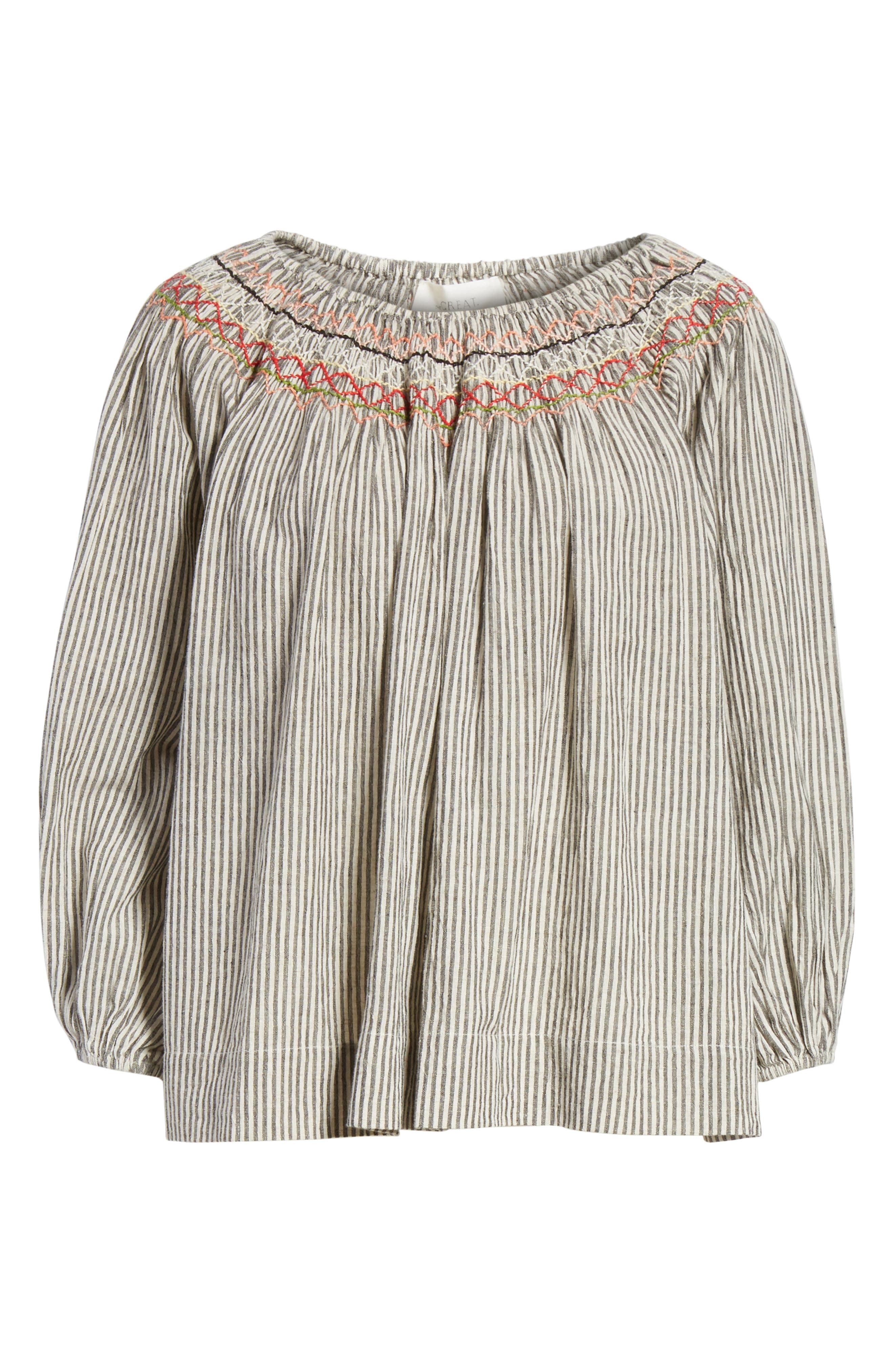 The Vista Cotton & Linen Top,                             Alternate thumbnail 6, color,                             400