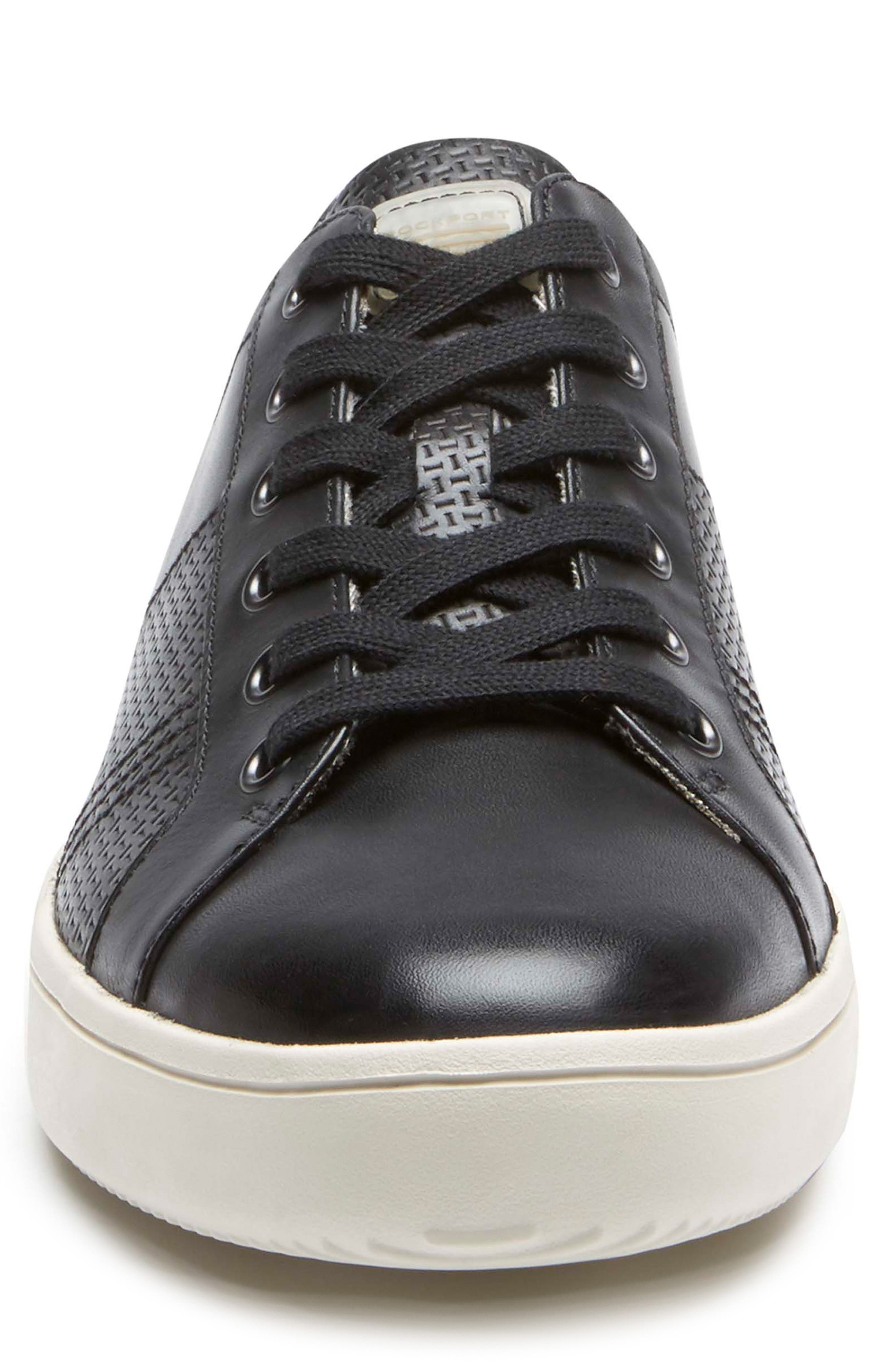 City Lites Collection Lace-Up Sneaker,                             Alternate thumbnail 4, color,                             001