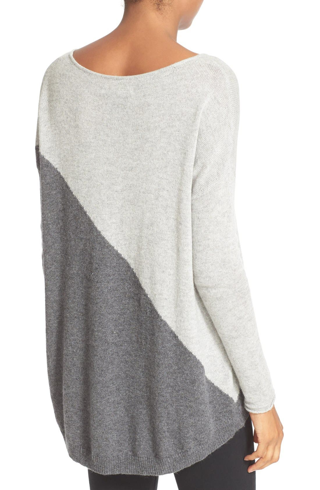 Abbie Colorblock High/Low Pullover,                             Alternate thumbnail 3, color,                             054