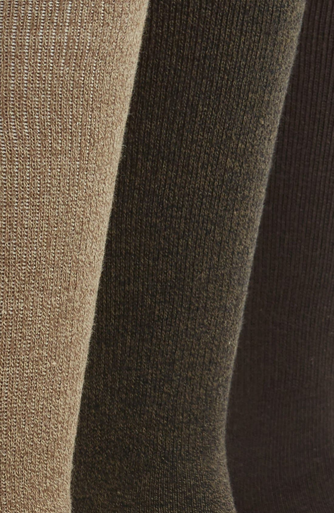 CALVIN KLEIN,                             3-Pack Cotton Blend Socks,                             Alternate thumbnail 2, color,                             BEIGE
