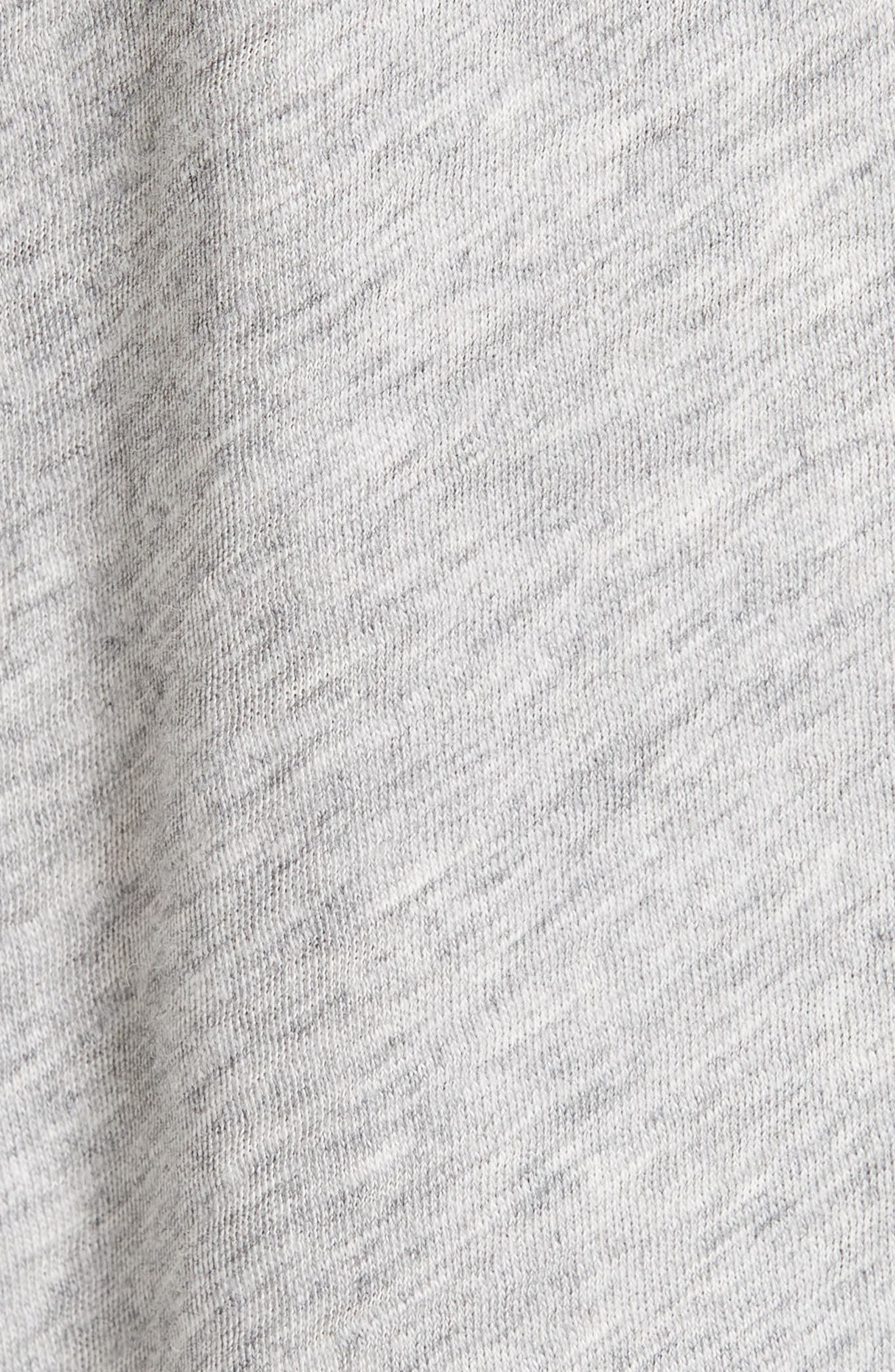 Bye Embroidered Tee,                             Alternate thumbnail 5, color,                             HEATHER GREY