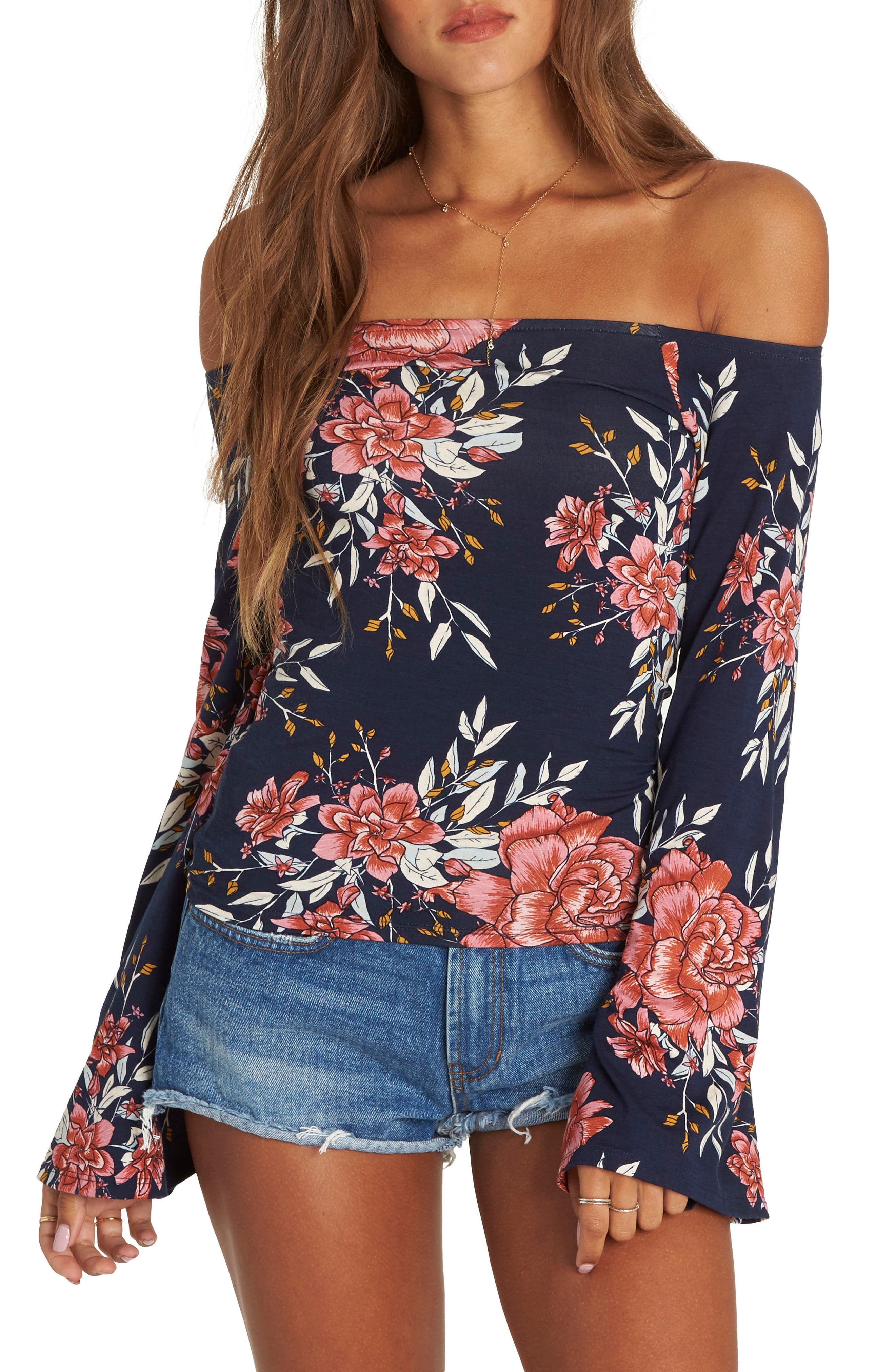 Come Around Off the Shoulder Top,                             Main thumbnail 1, color,